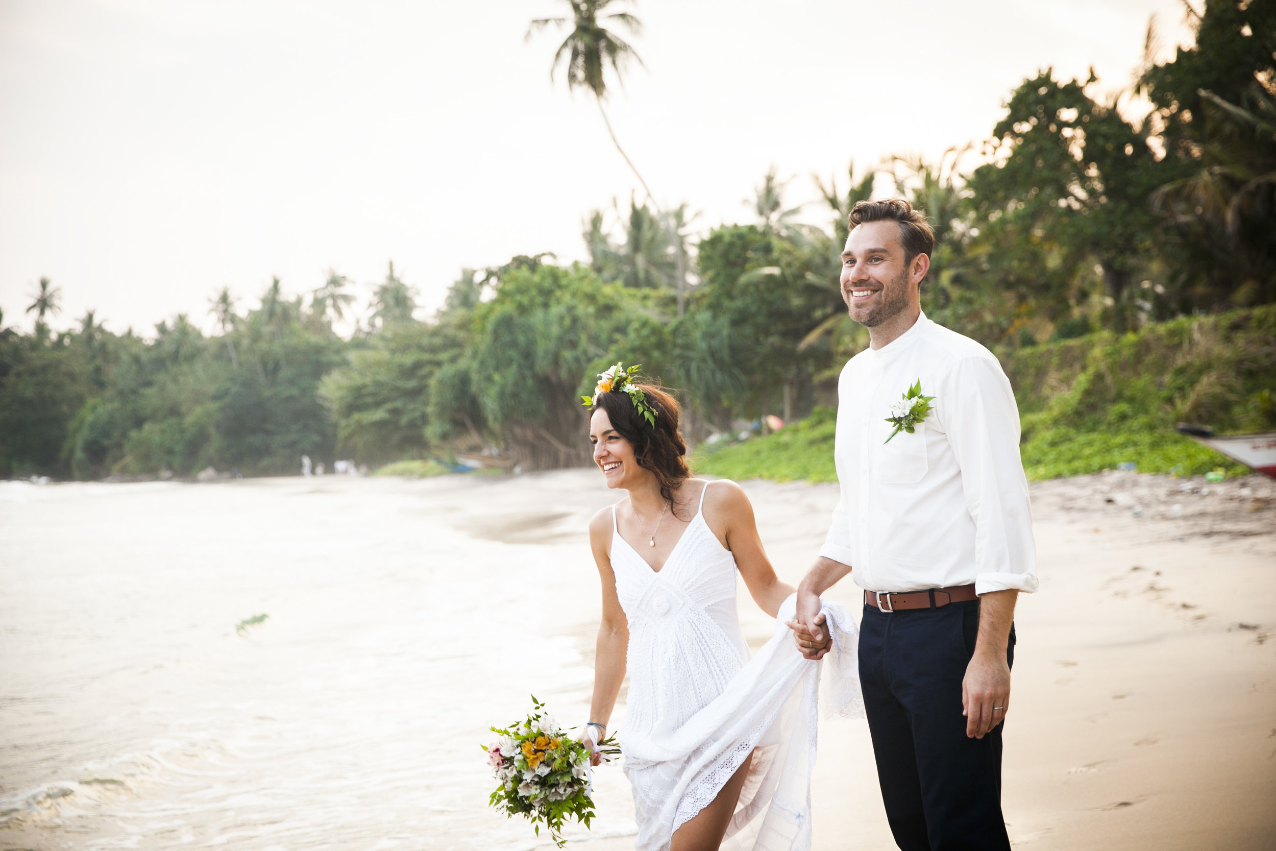 """""""Jeremy effortlessly captured so many magical moments from our wedding day in Sri Lanka. He is so relaxed and discreet and we honestly didn't notice he was taking all the photos that he did. We wanted a relaxed style to match our beach wedding and Jeremy really delivered professionally and with expert results - we are completely blown away! Thank you Jeremy for telling our story in pictures! We are so so happy! - Kelly & Stuart, Sri Lanka"""