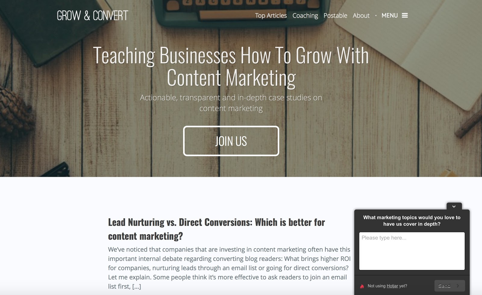 Grow and Convert -