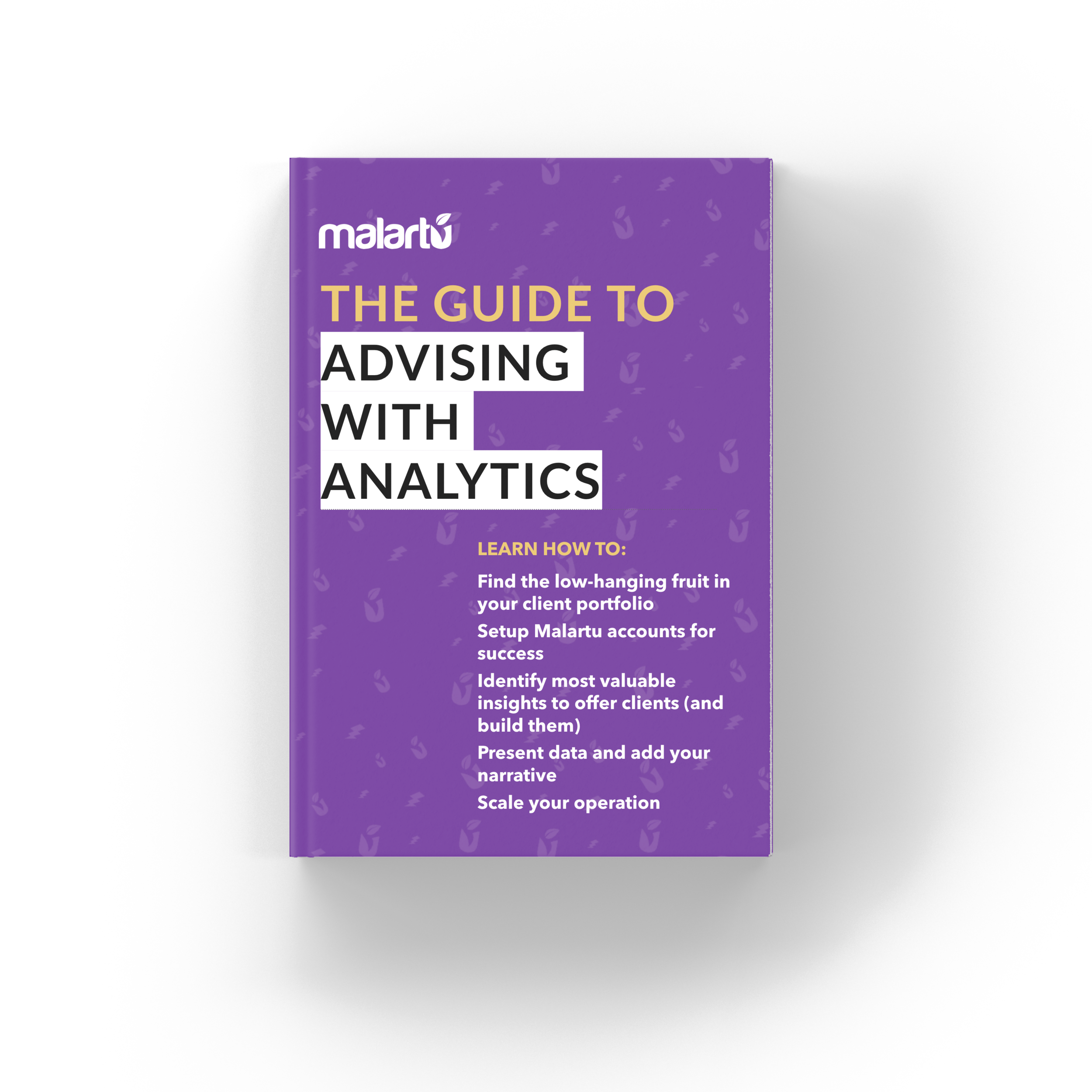 The Guide to Advising with Analytics - For accountants looking to supercharge your advisory services with analytics. Including best-practices for getting started with Malartu.