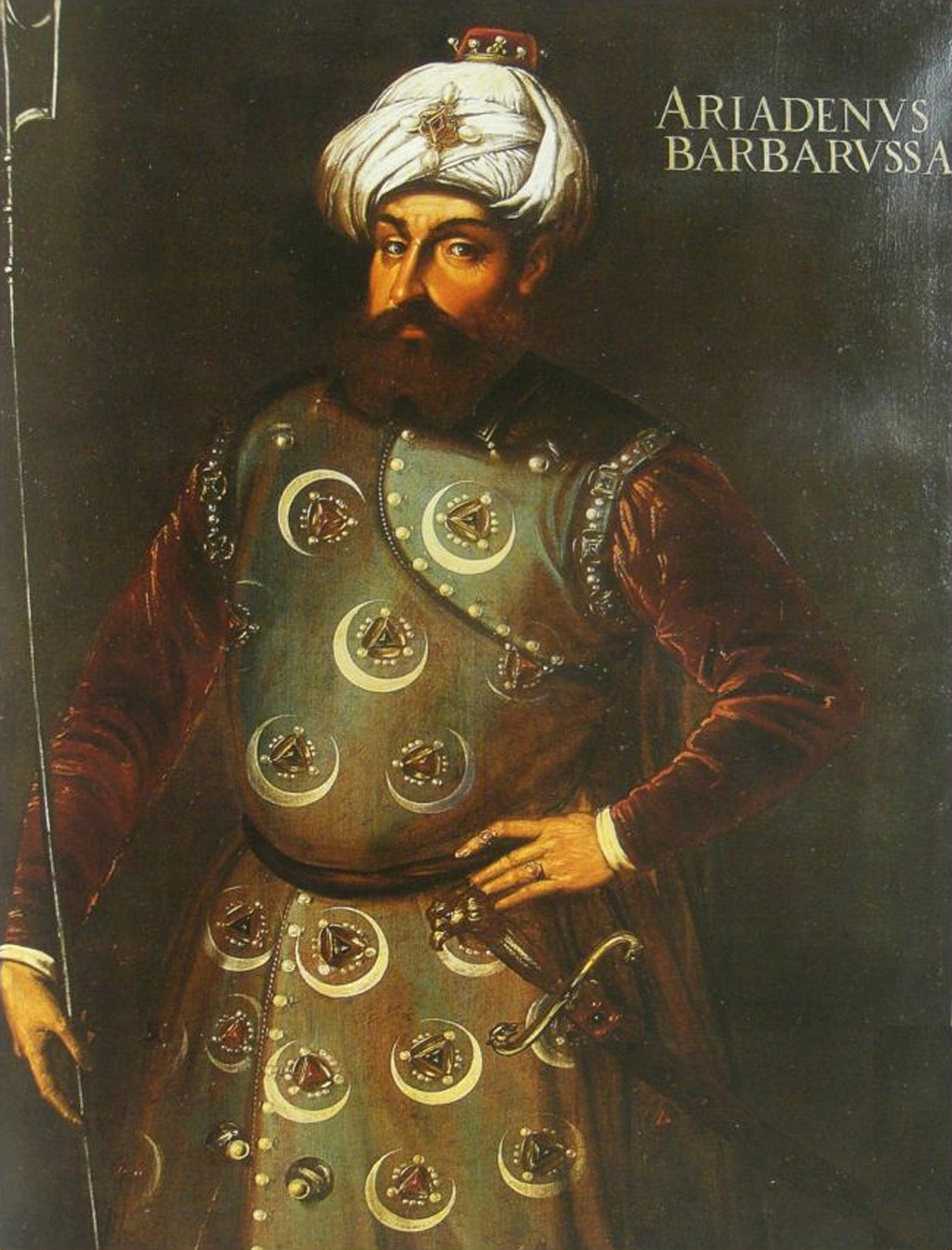 Never one for Khidrn around, Barbarossa poses here as the mediterranean's most feared corsair.