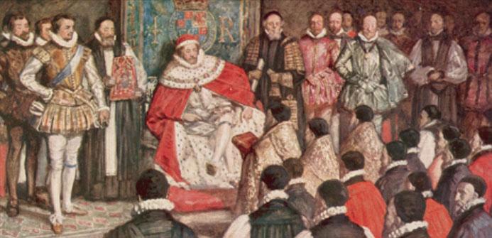 No monarch unplagued: the Puritans nip around James' ankles at Hampton Court