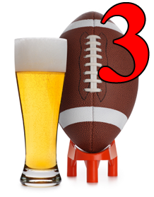 I gave up a field goal yesterday for having beer. I did keep it reasonable.