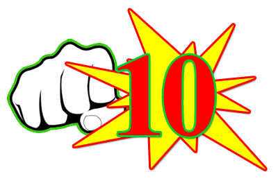"""The dreaded """"Red 10"""". This means I got punched in the mouth by The Fat Man."""