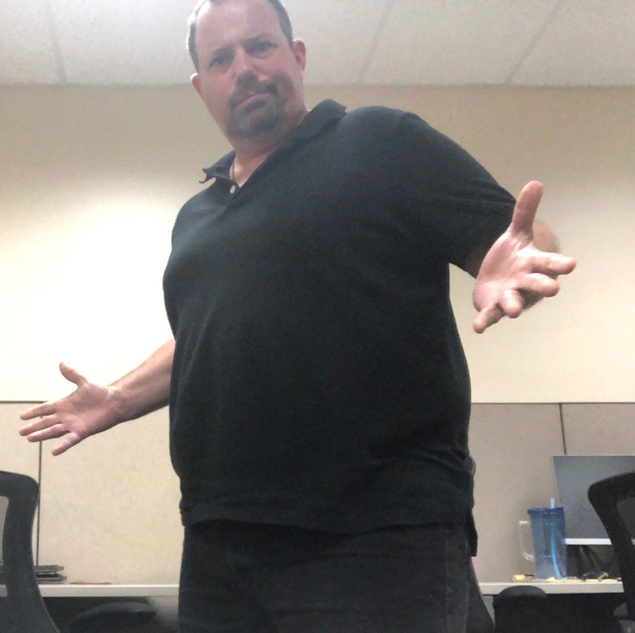 Scratch at 306 on June 3, 2019. Is he losing weight? Hmm. This was in the morning after a losing Sunday that saw him pound beer and eat bologna sandwiches. He he was within the intermittent fasting protocol of 20/4 or did he abuse it that day?