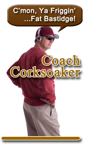 Coach Corksoaker is happy that Scratch won, but he has seen much worse—and he hates these Tuesday pissers, eh pressers. He often frets that Scratch should actually do a YouTube video Presser each week. Scratch is working on that, but Coach Corksoaker doesn't buy it.