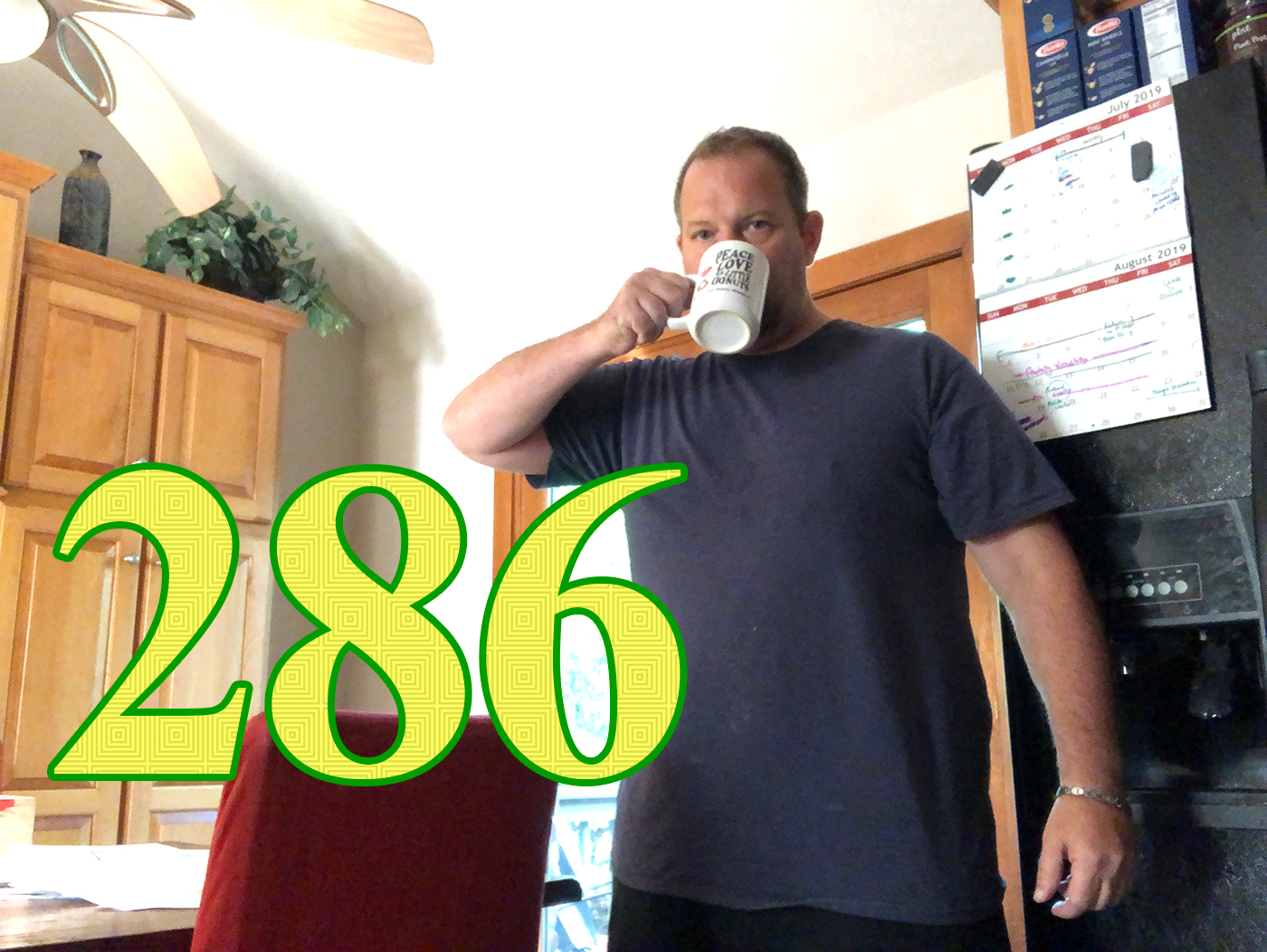 Scratch lost a week, but got back to 286. Let the Fourth of July Box Score serve as as cautionary tale… You can't drink 5,000 calories in beer and hope to lose any weight. Now the question is—where will he go from here?