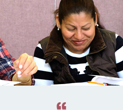 Adult education is important to me because it is a good example for my children. - - BEATRIZ, ESL STUDENT