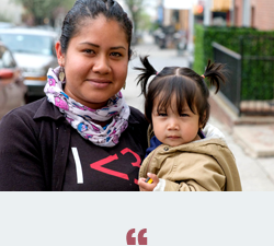 Learning English is important to me because I want a better future for my daughter and I want to go back to school. - - ABY, ESL STUDENT