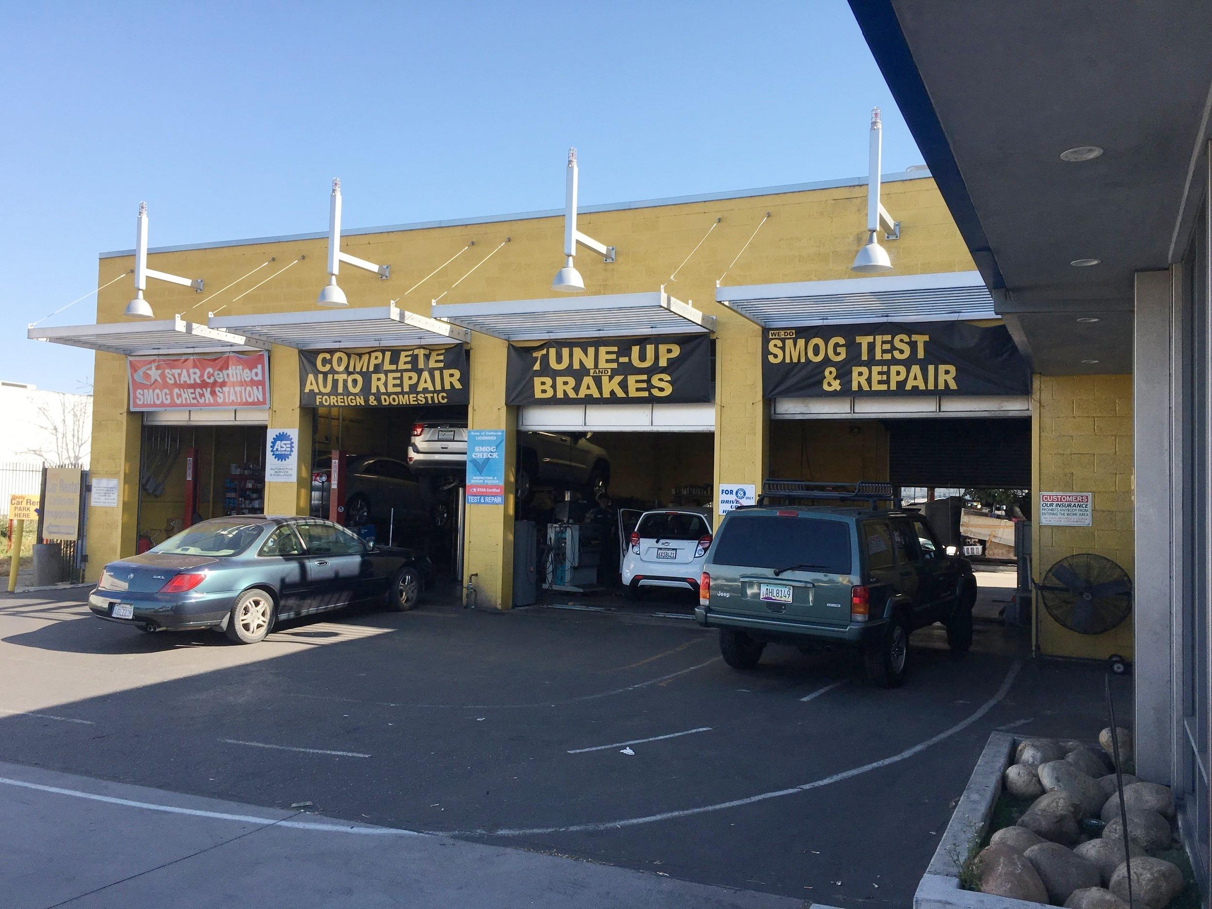 California Motor Works & Tires car repair shop in Kearny Mesa, San Diego