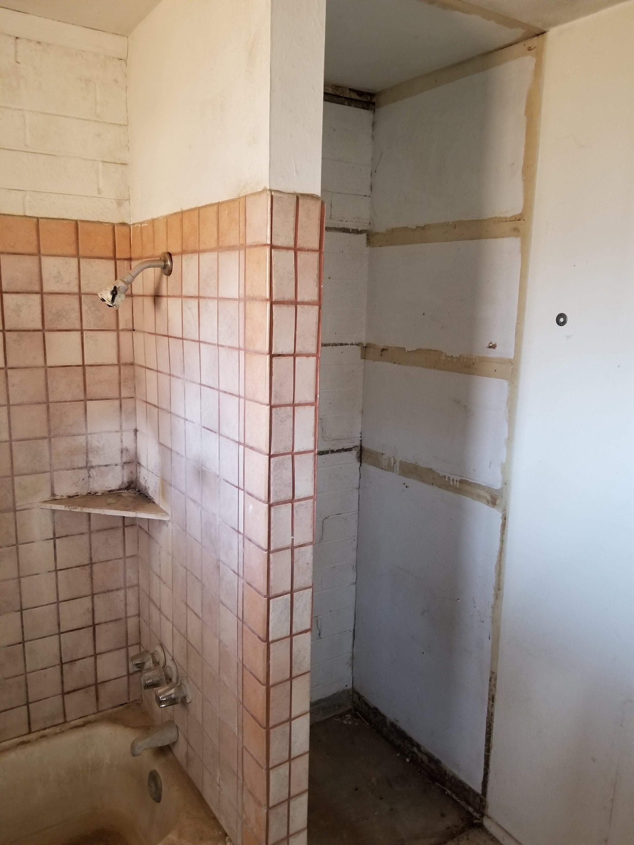 Demo bath cabinets