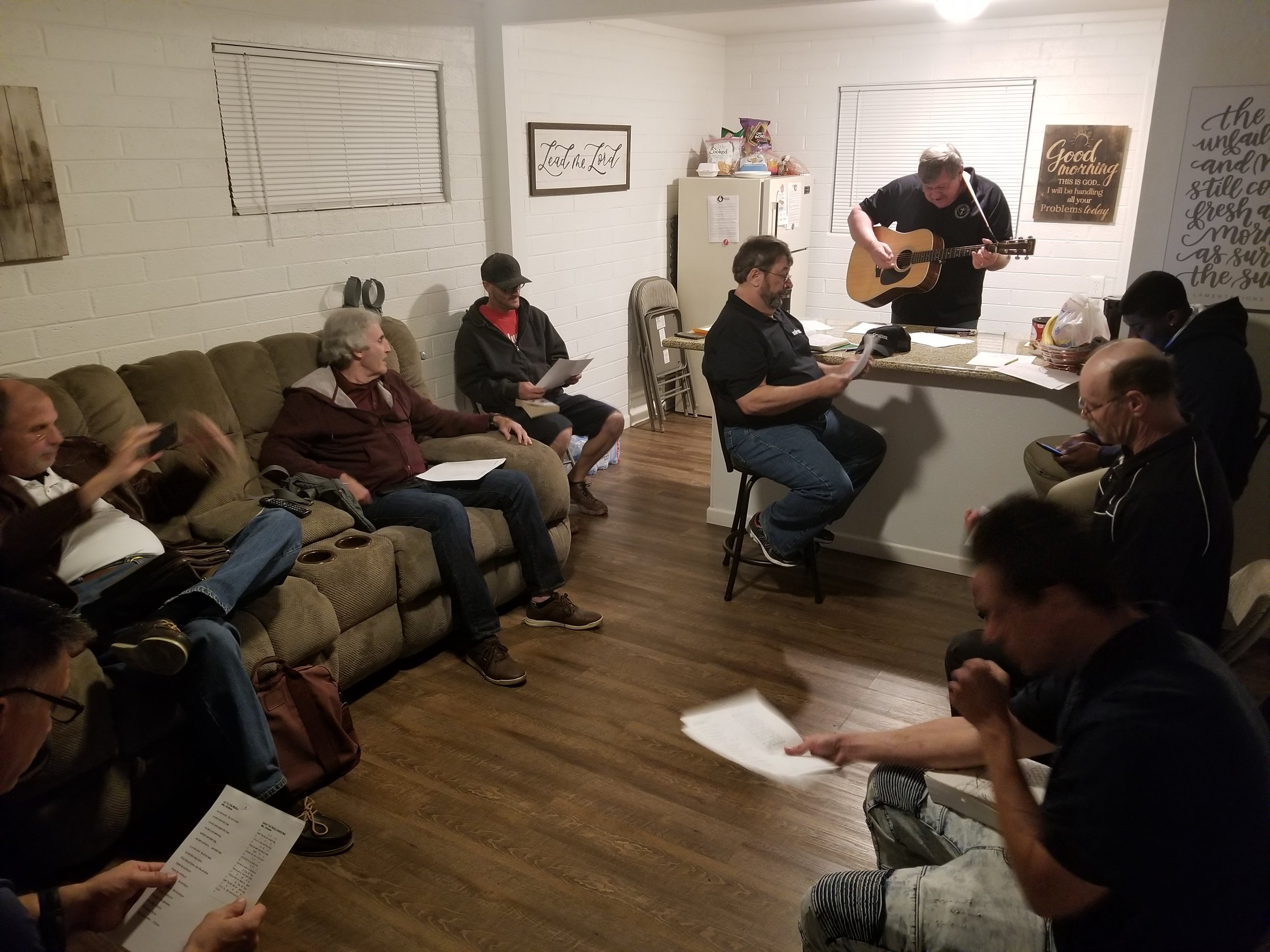 Little worship at Bible study