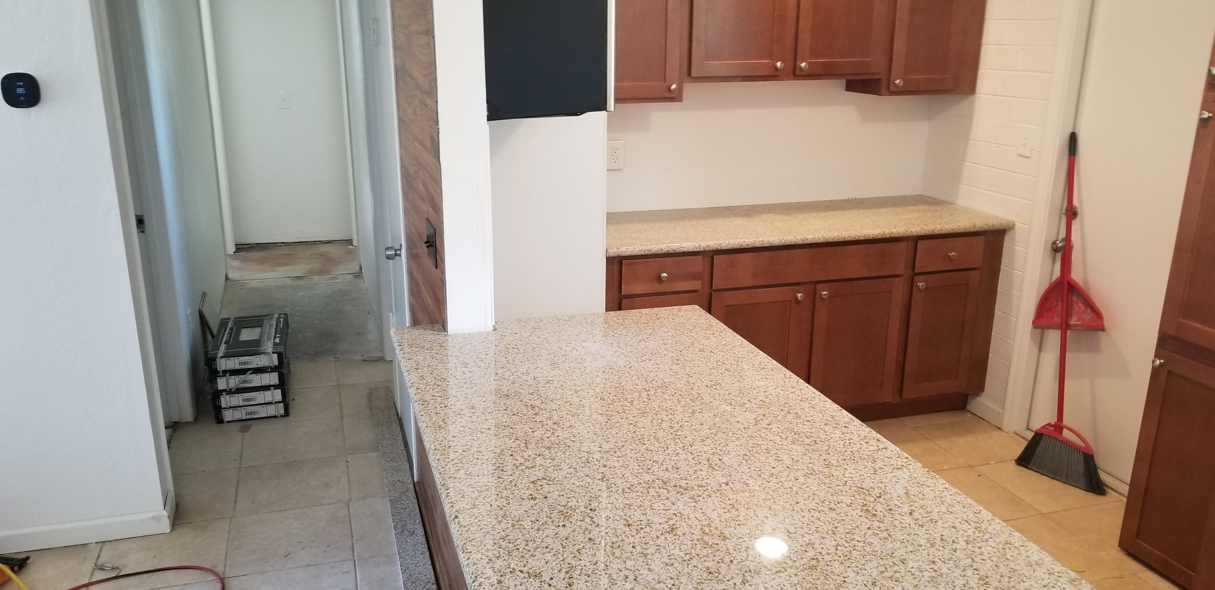 Counters installed