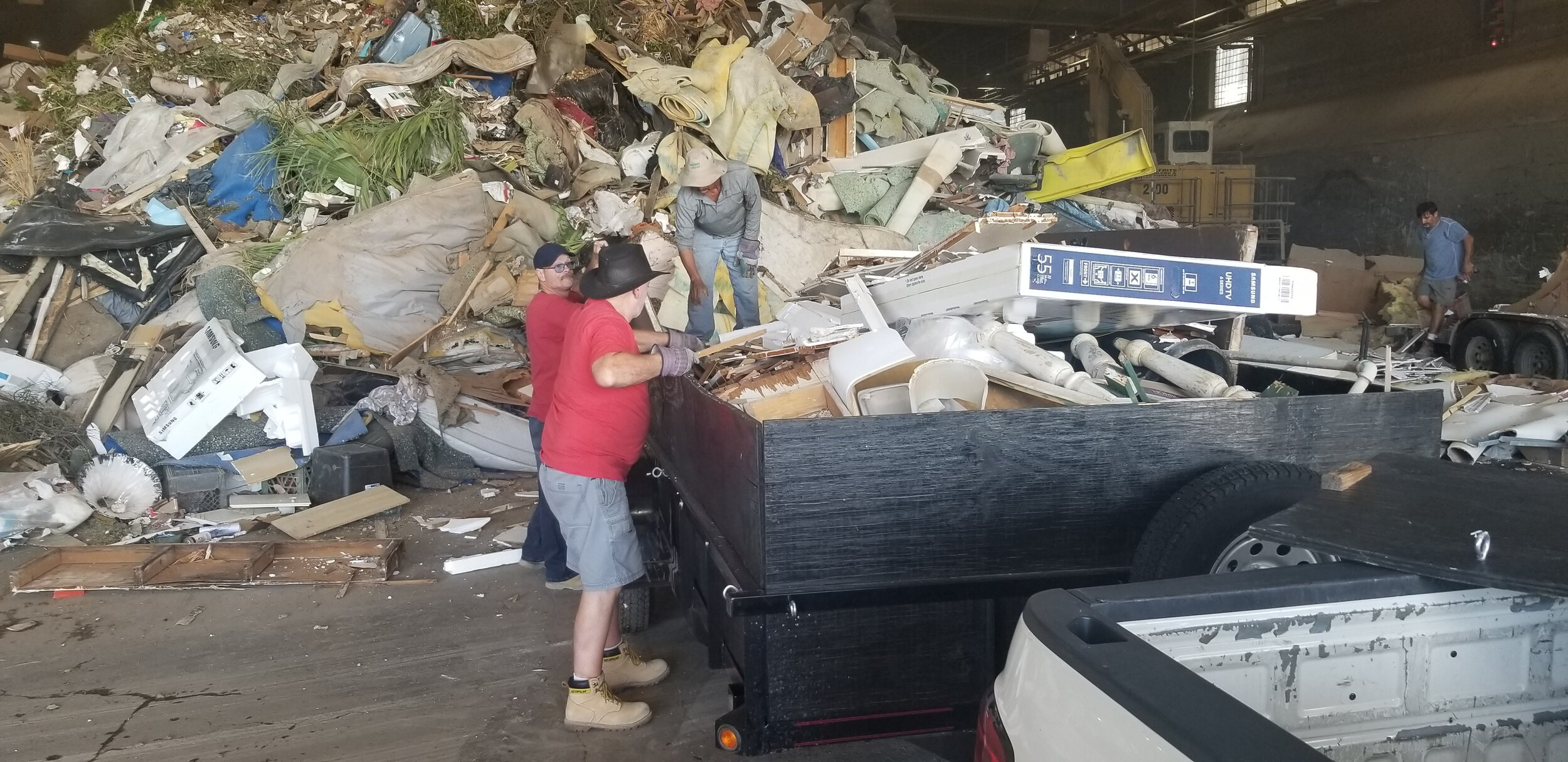 Dean from SBC volunteers to take every single trash load to the dump. Thank you Dean!