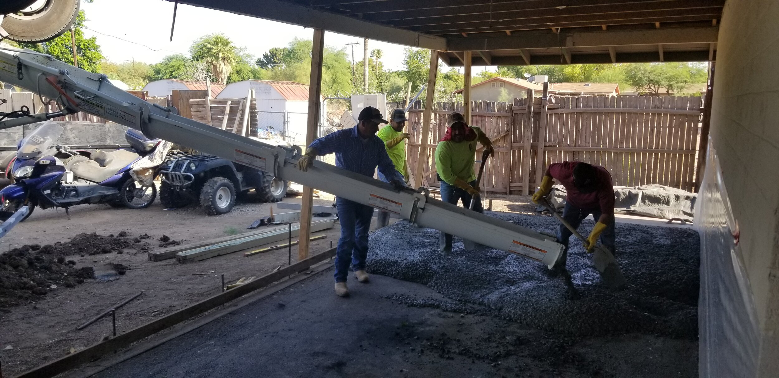 Pouring the slab and front patio