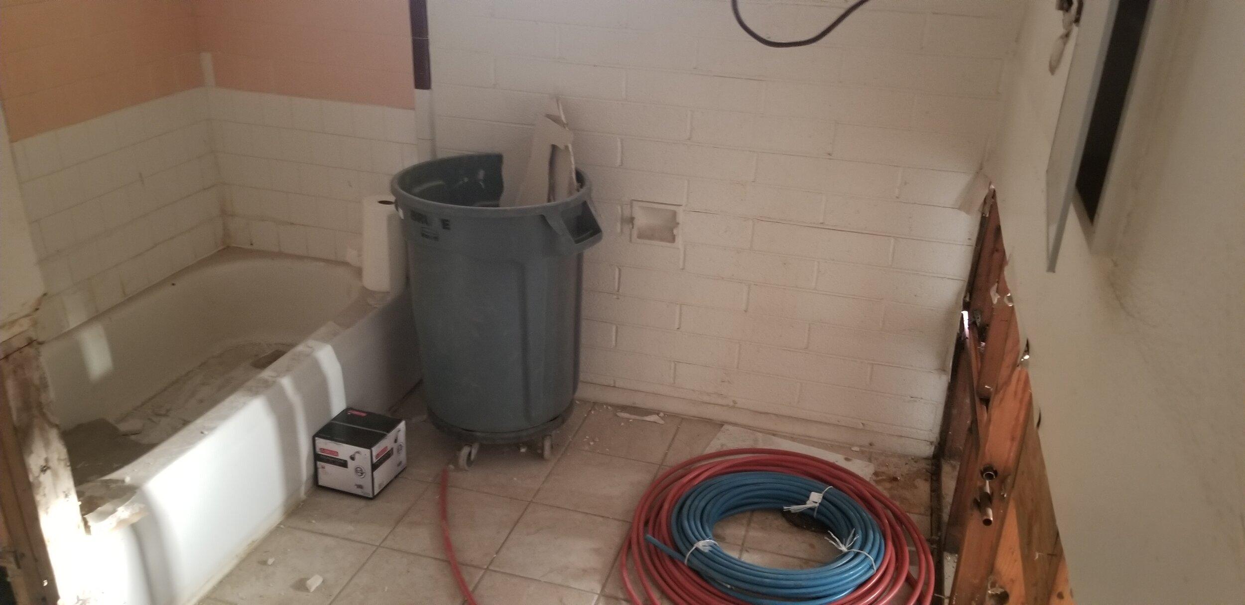 Bathroom new plumbing