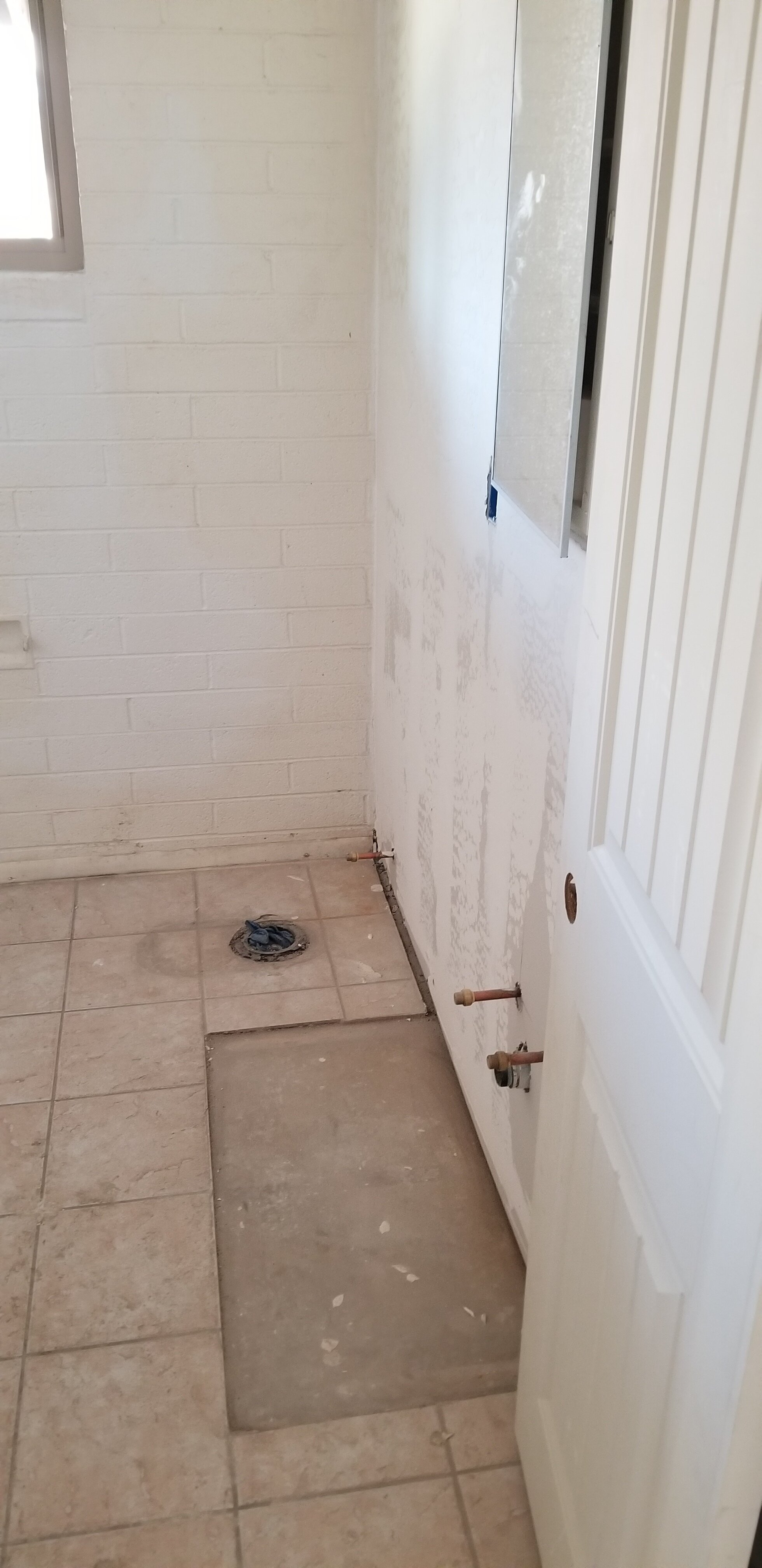 Bathroom walls repaired