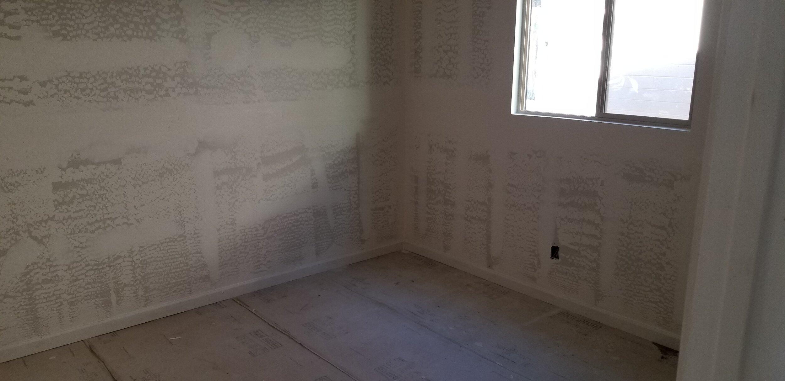 Sheetrock in 2 new bedrooms
