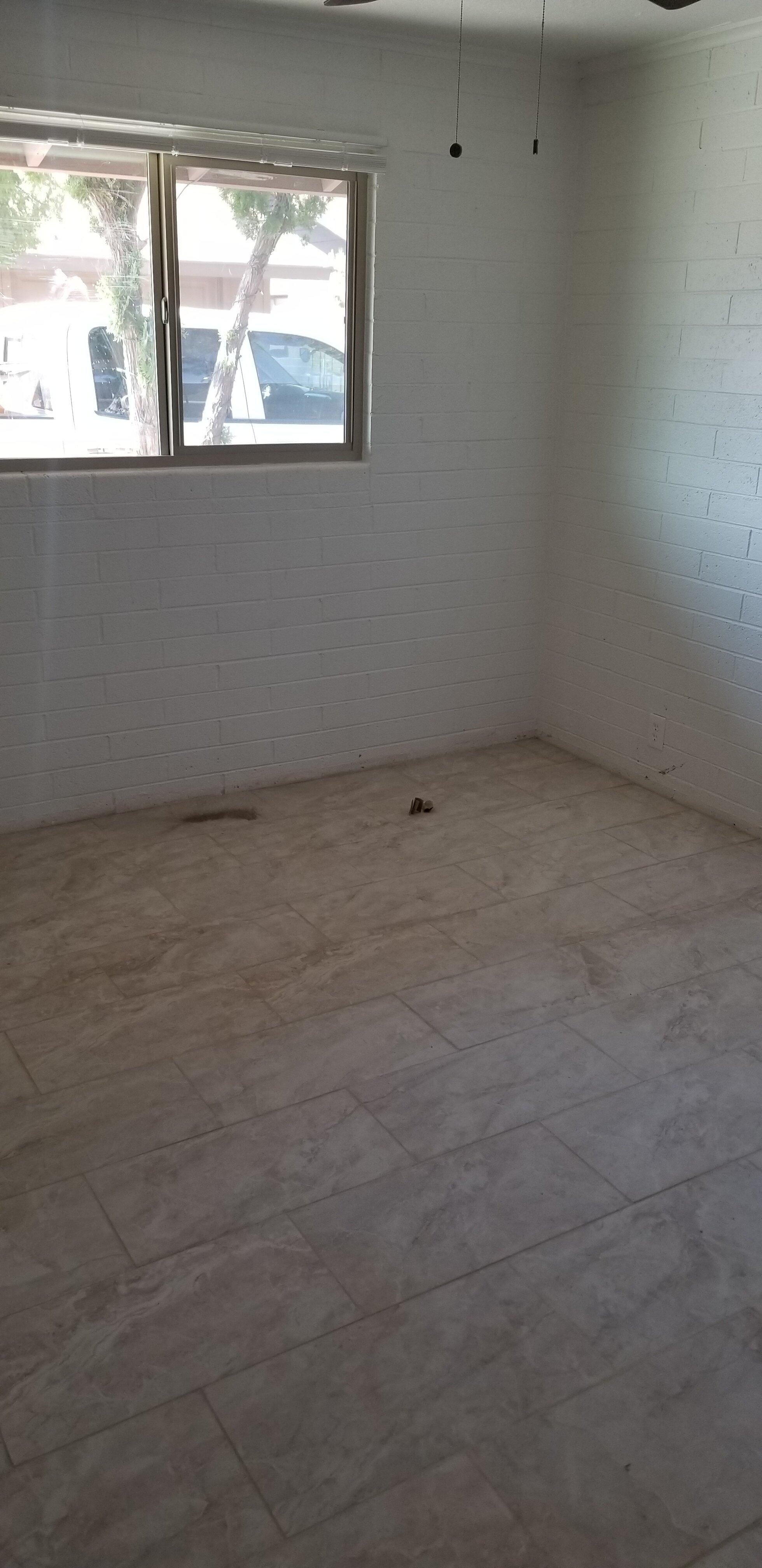 Existing bedroom tile