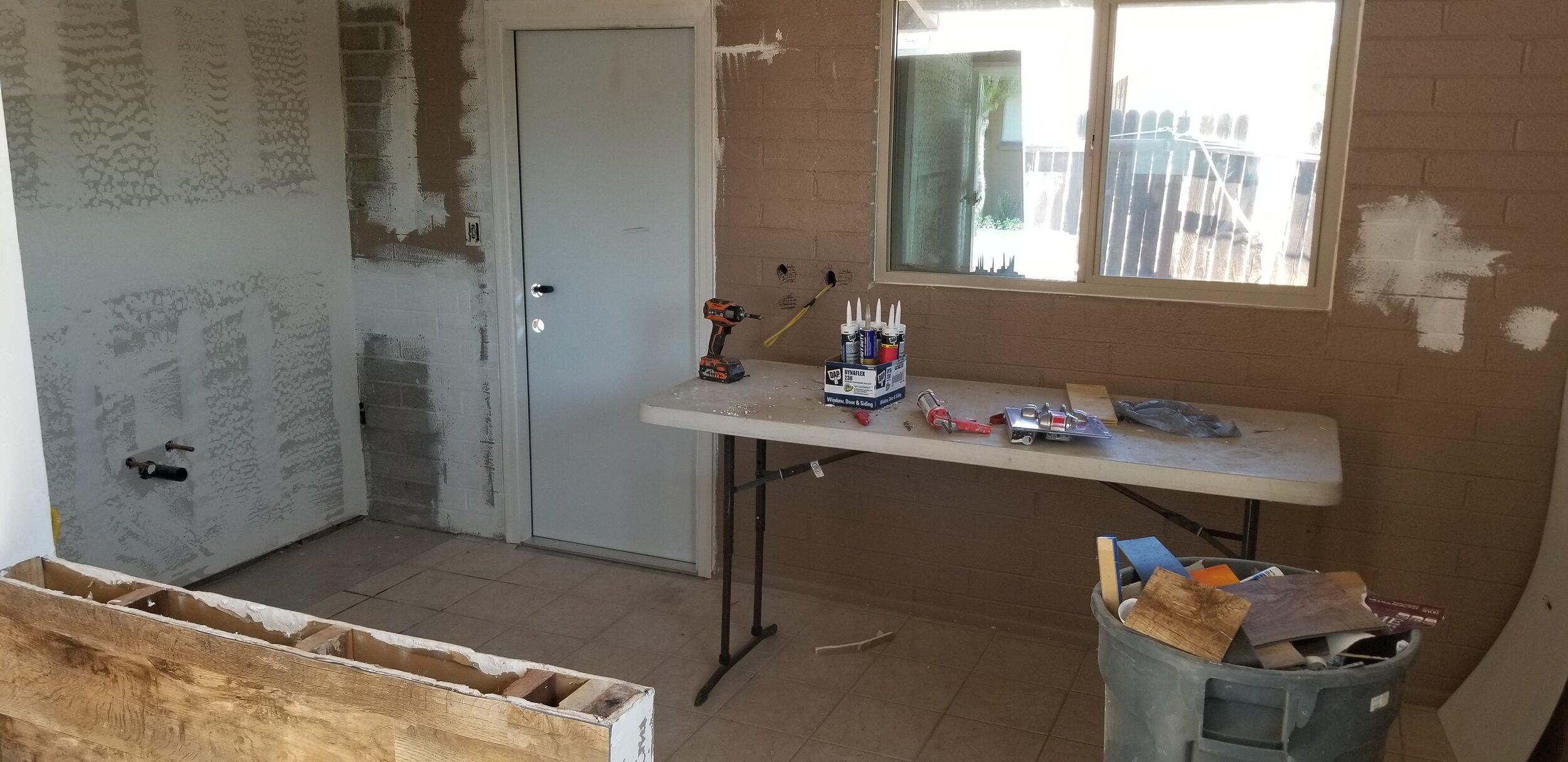 Kitchen sheetrock & texture