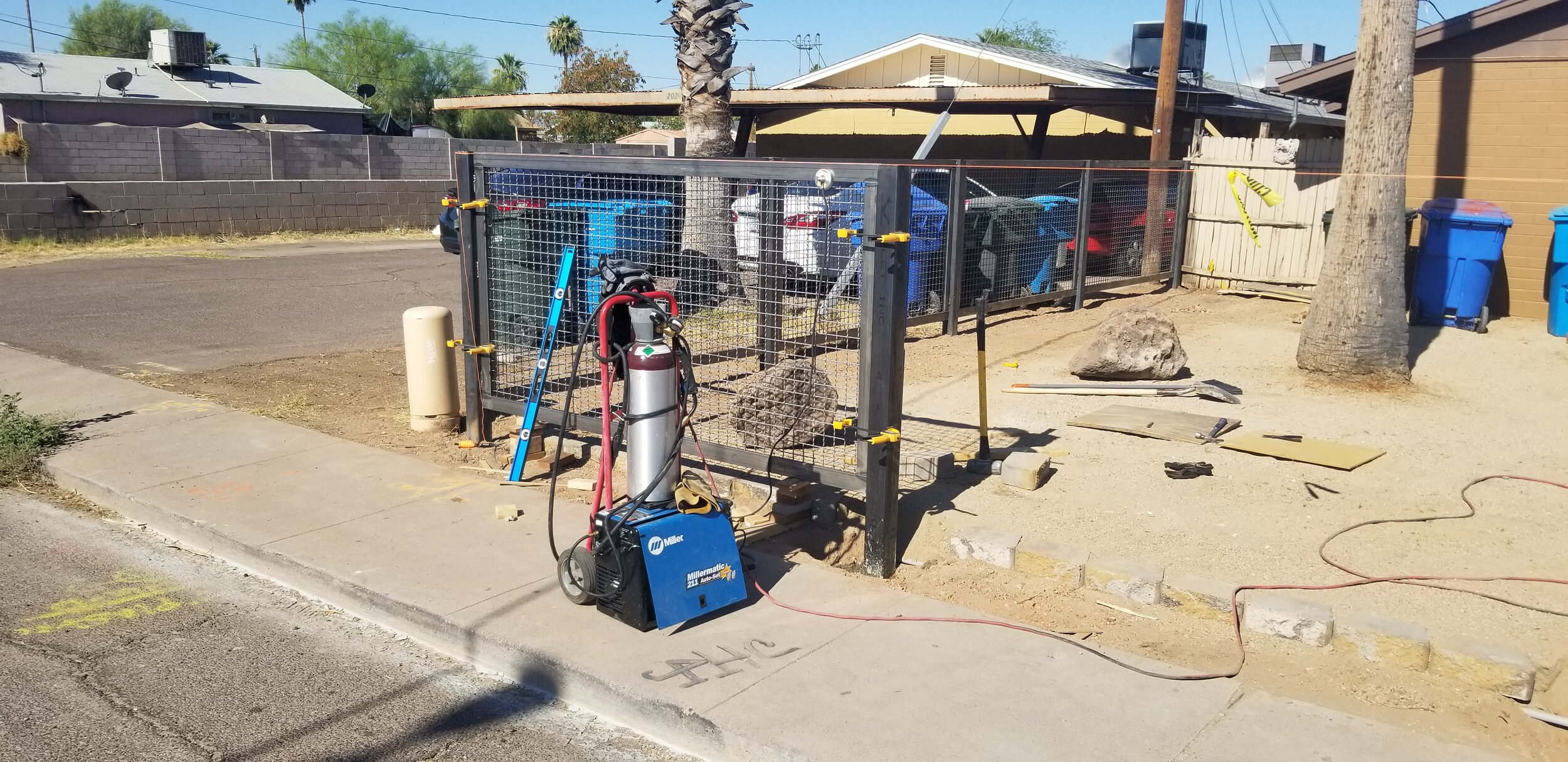 Installing front fence