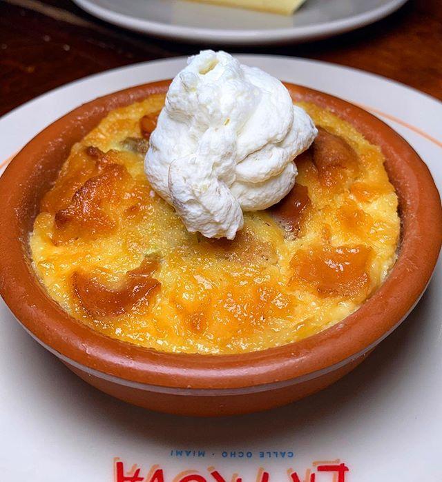 bread pudding |🥮| @chefmichy signature bread pudding @cafelatrovamiami now open in miami | #themiamimenu #cafelatrova