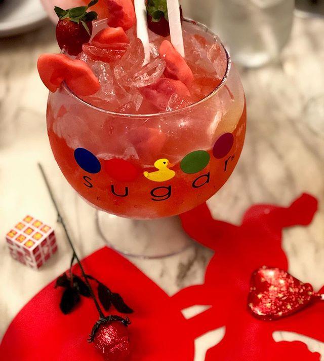 happy valentine's day |❤️| celebrating with @thesugarfactory valentine's day specials | #themiamimenu #sugarfactory