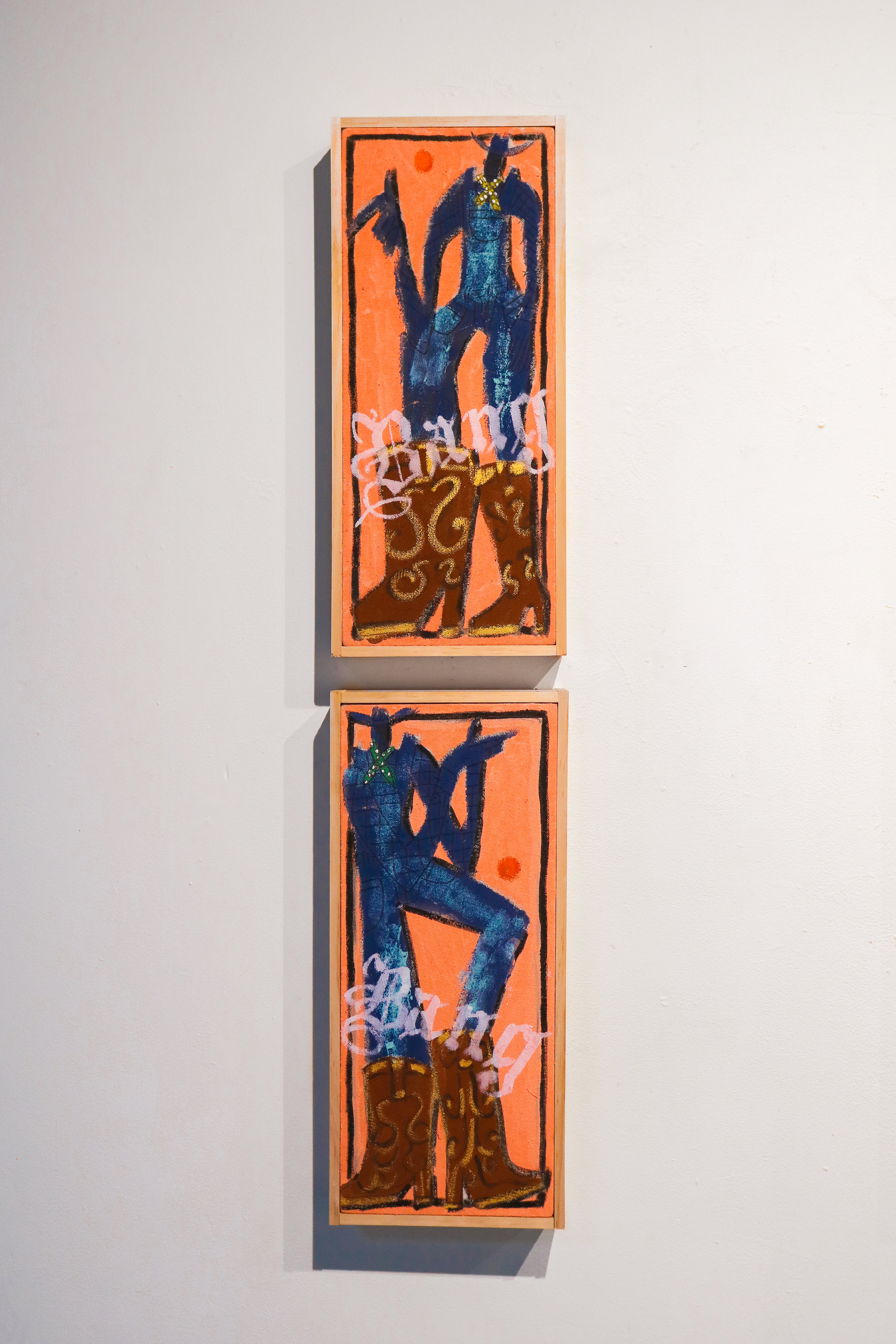 """Mini quickdraw (1&2)"" - 8 x 17""8 x 17""Acrylic, Oil & Ink on Canvas"