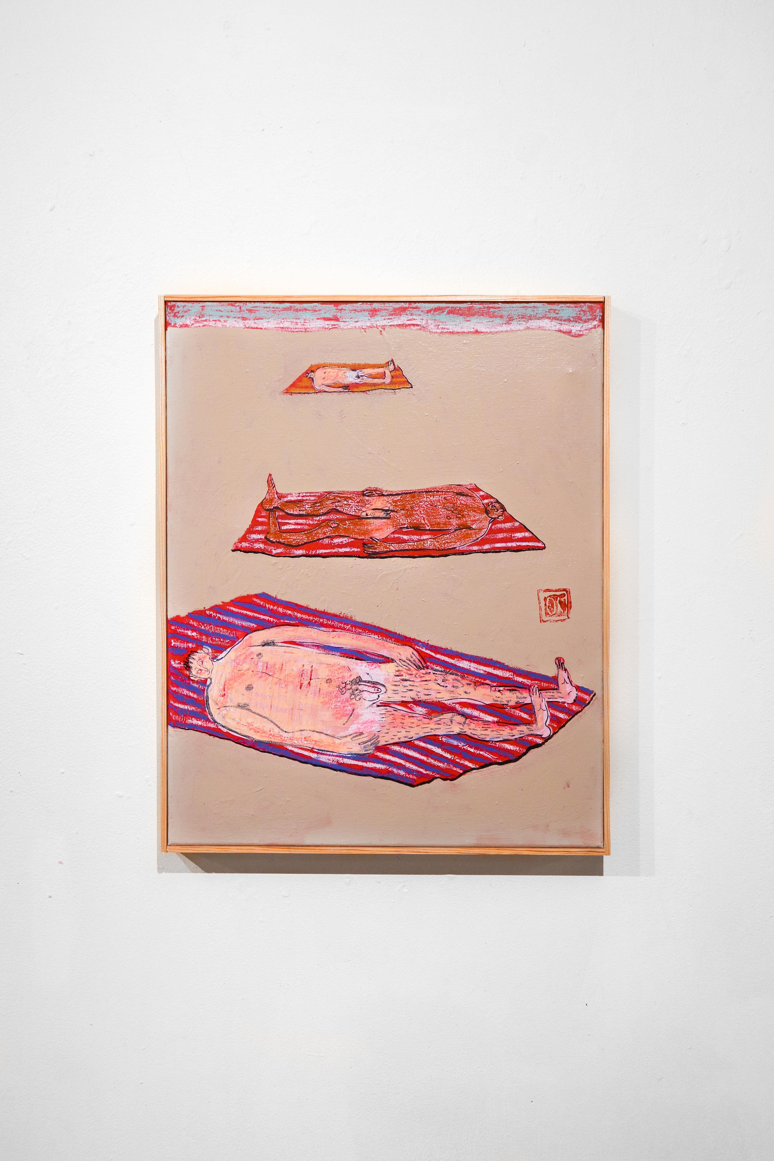 """""""beach boys wanna boogie"""" - 16 x 20 """"Acrylic, Oil & Ink on Canvas"""