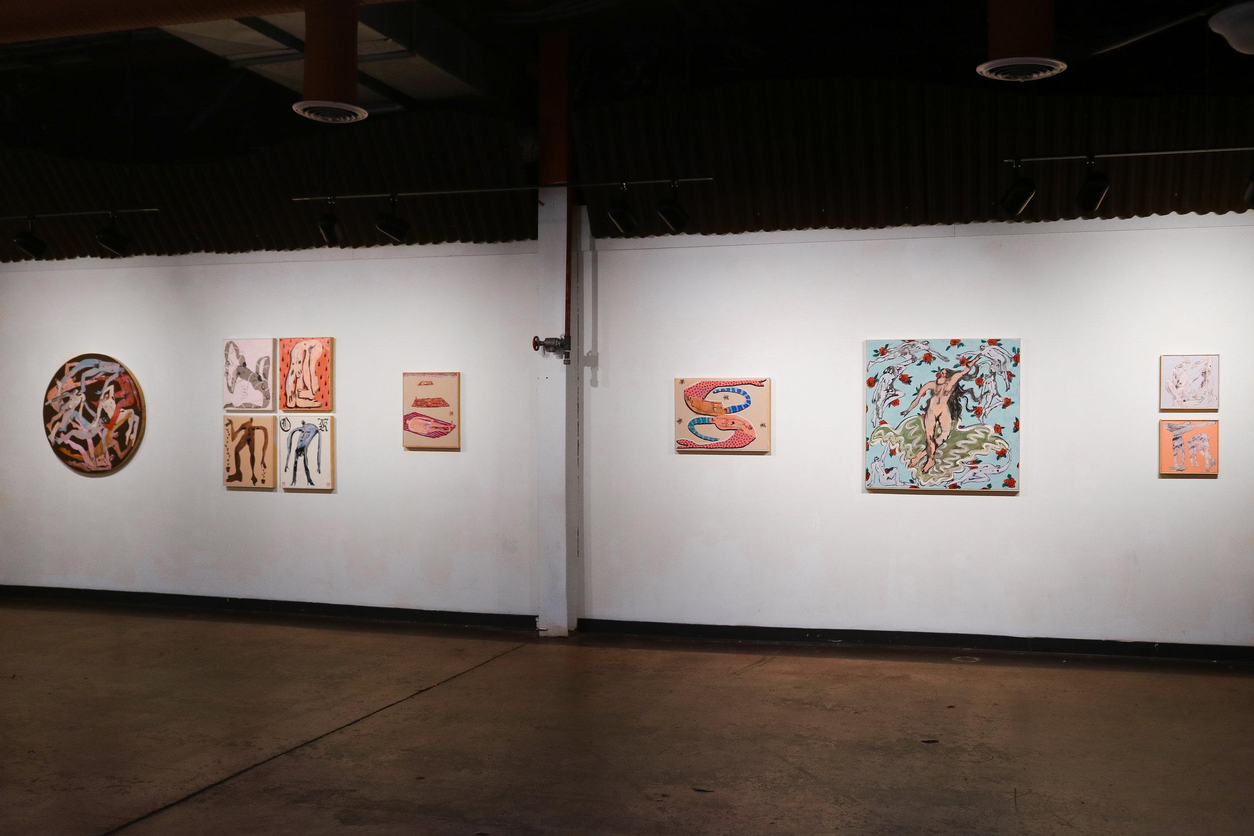 (far left wall of Art Works Inc. gallery)