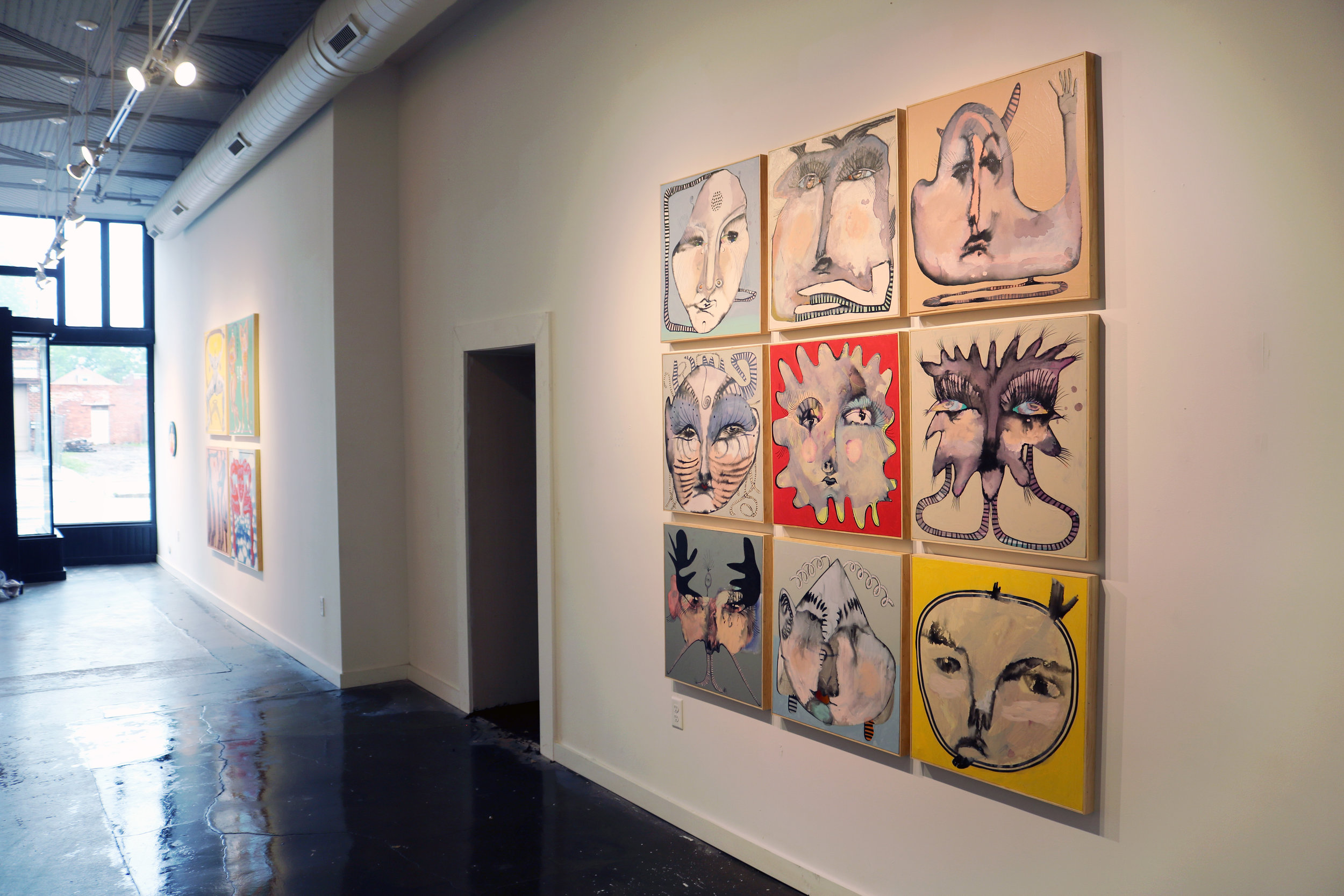 """The 2019 """"Faces"""" group displayed at The Well Gallery in Richmond, VA."""