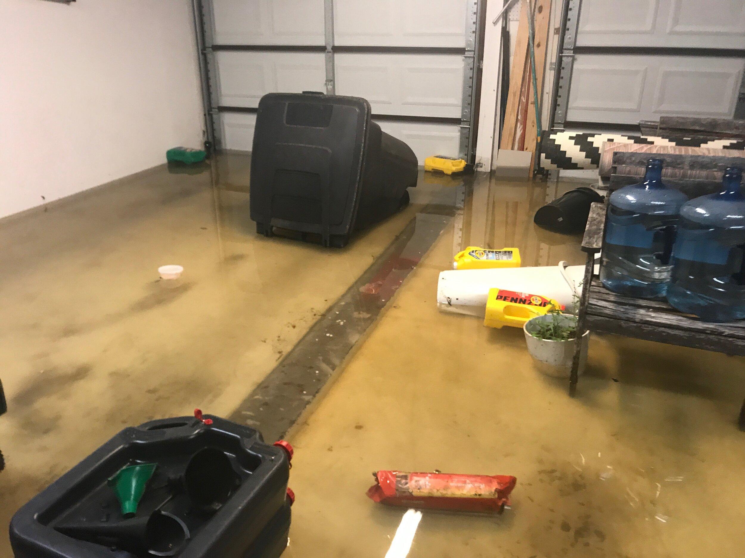 Glad we weren't parked in the garage