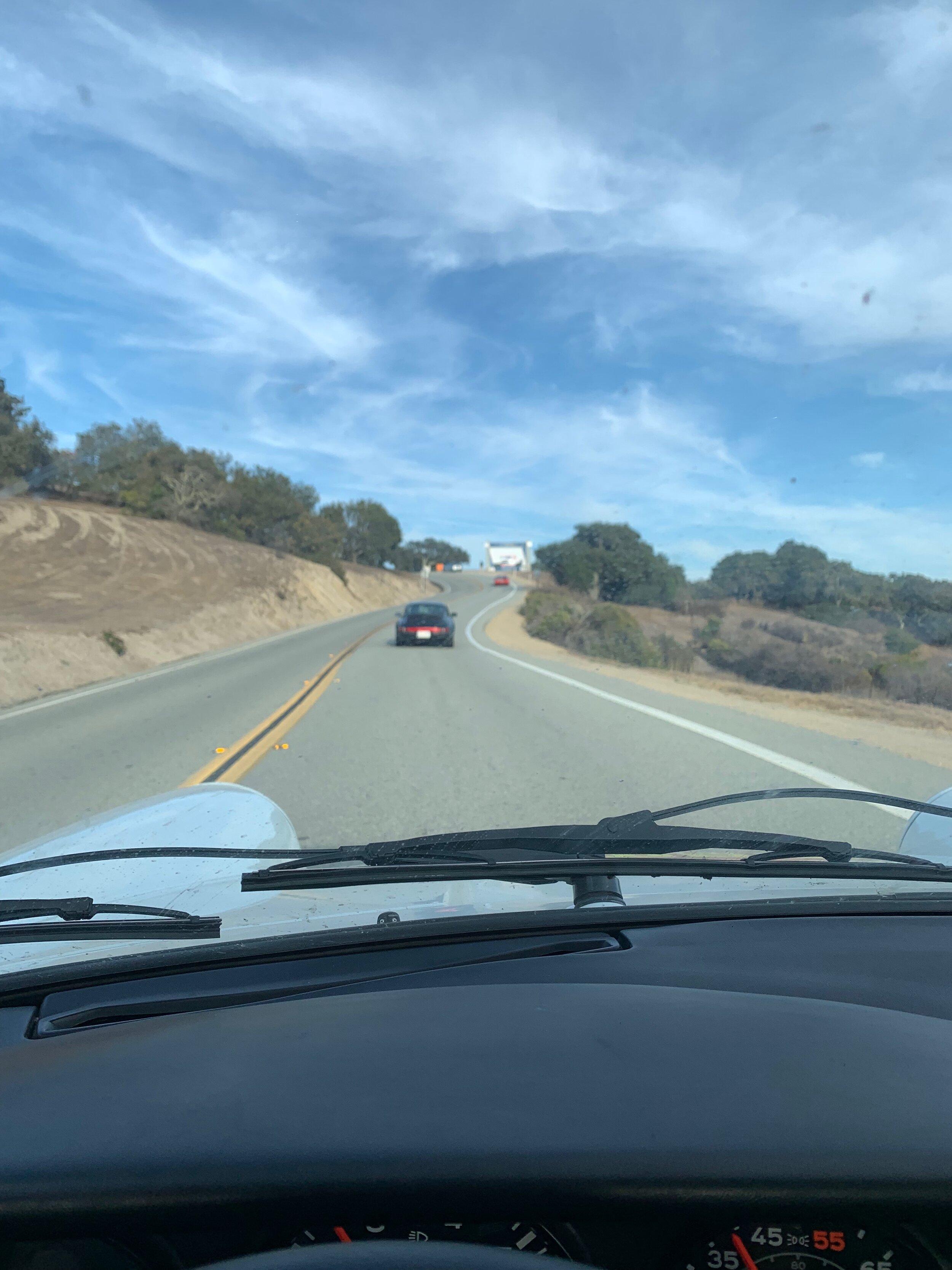 The road to Laguna Seca