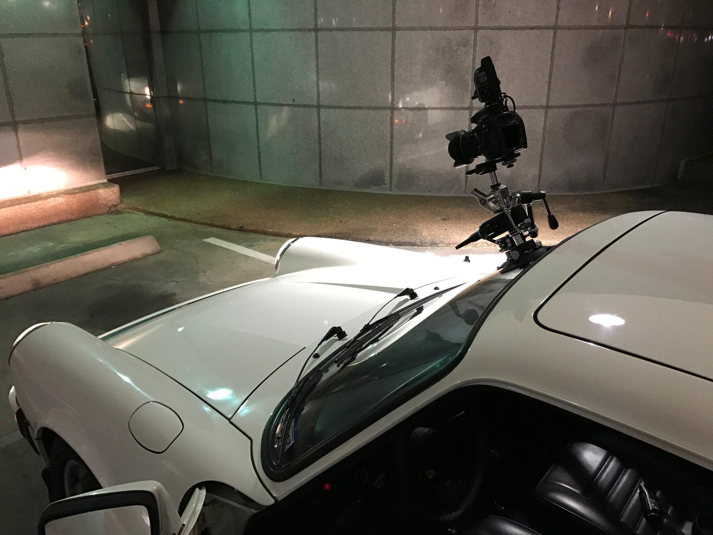 Setup for the driving shot