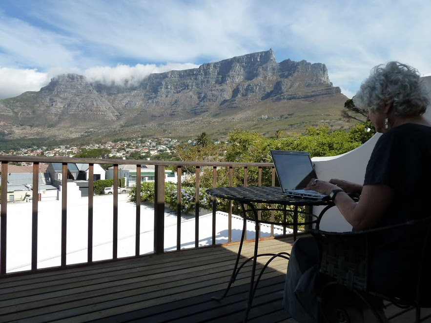 Writing under Table Mountain 1.JPG