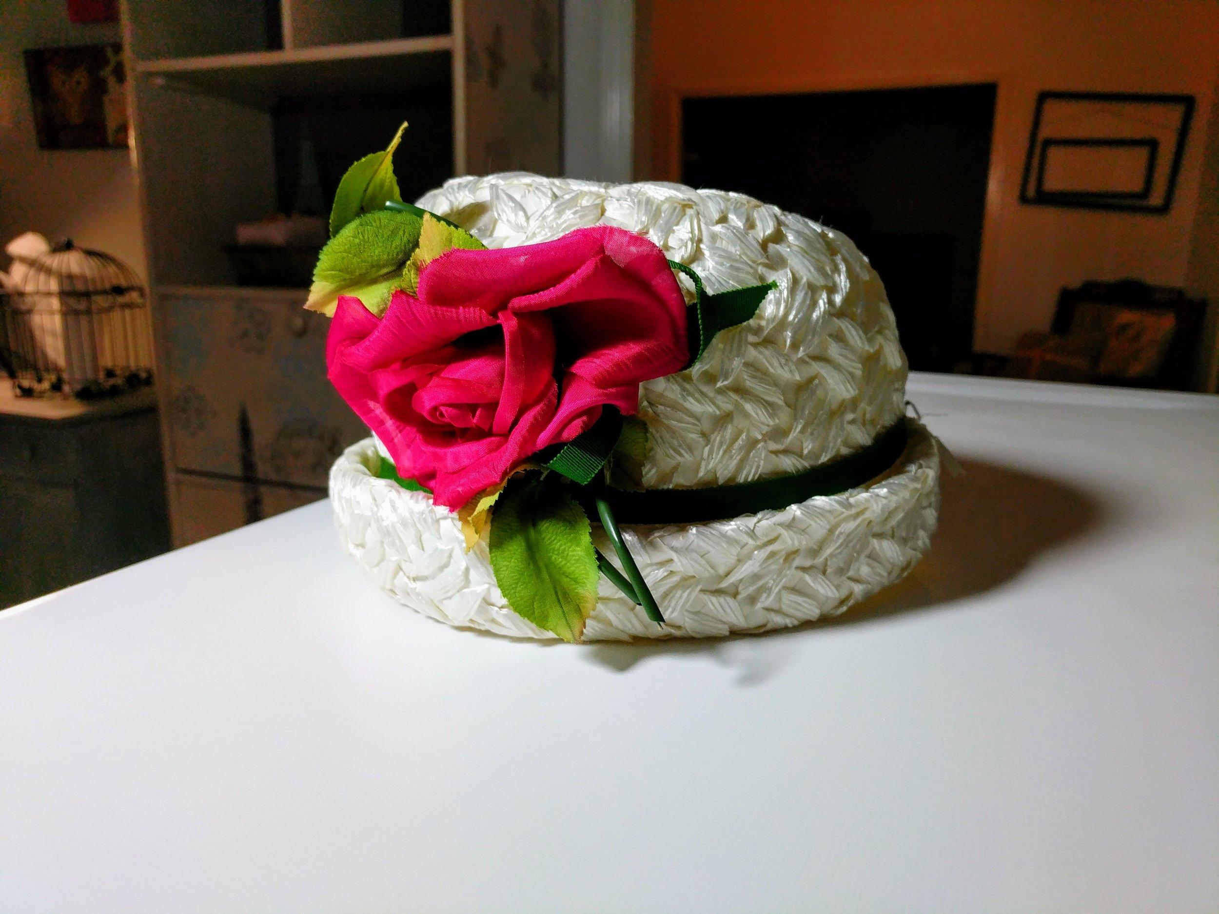 I'm pretty sure my Grandma Liz wore this exact hat to my parents' wedding. I just love it!