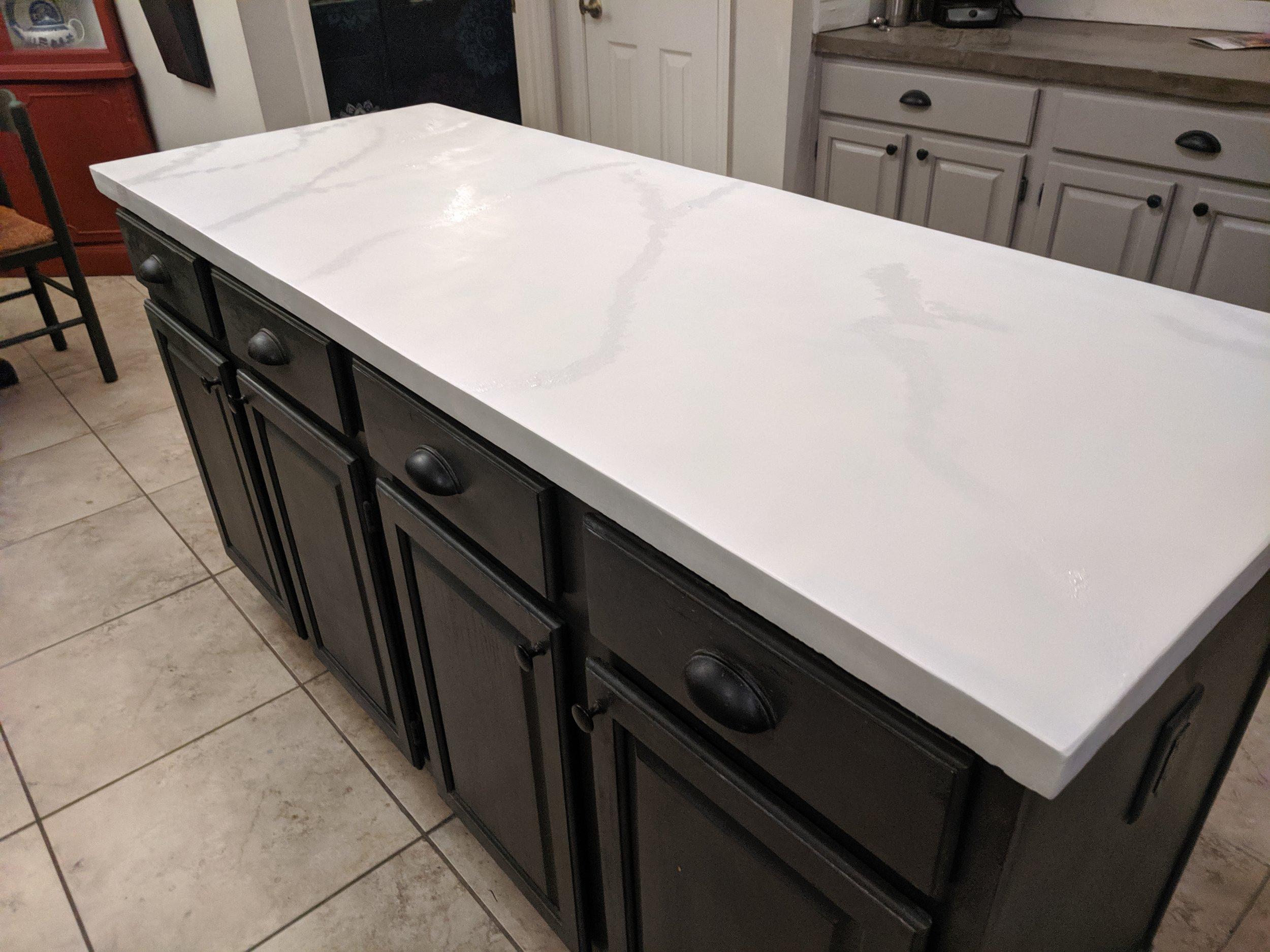 counter - sponged white paint base.jpg