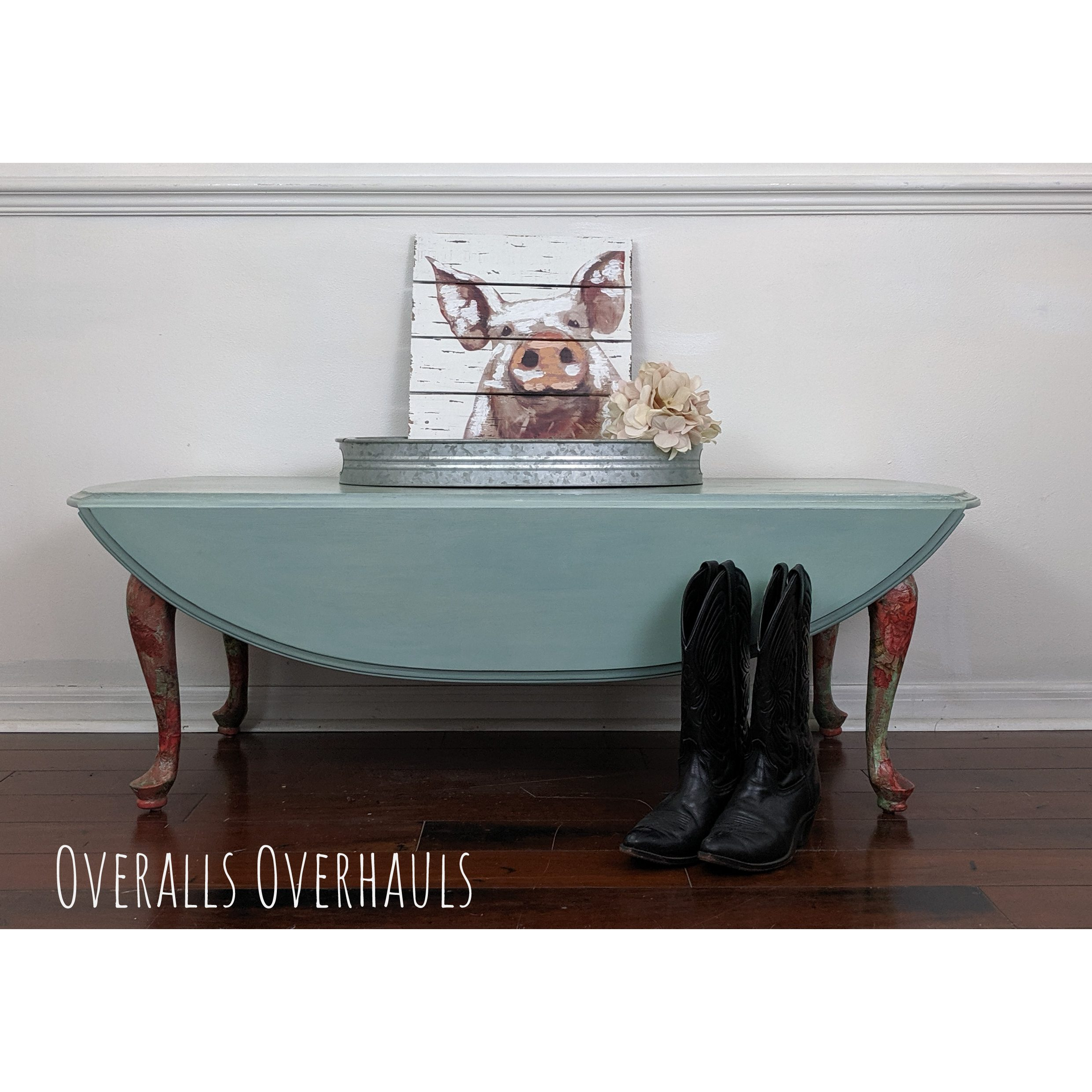 Boho+Country+Eclectic Coffee Table with Drop Leaves. Currently available. $225
