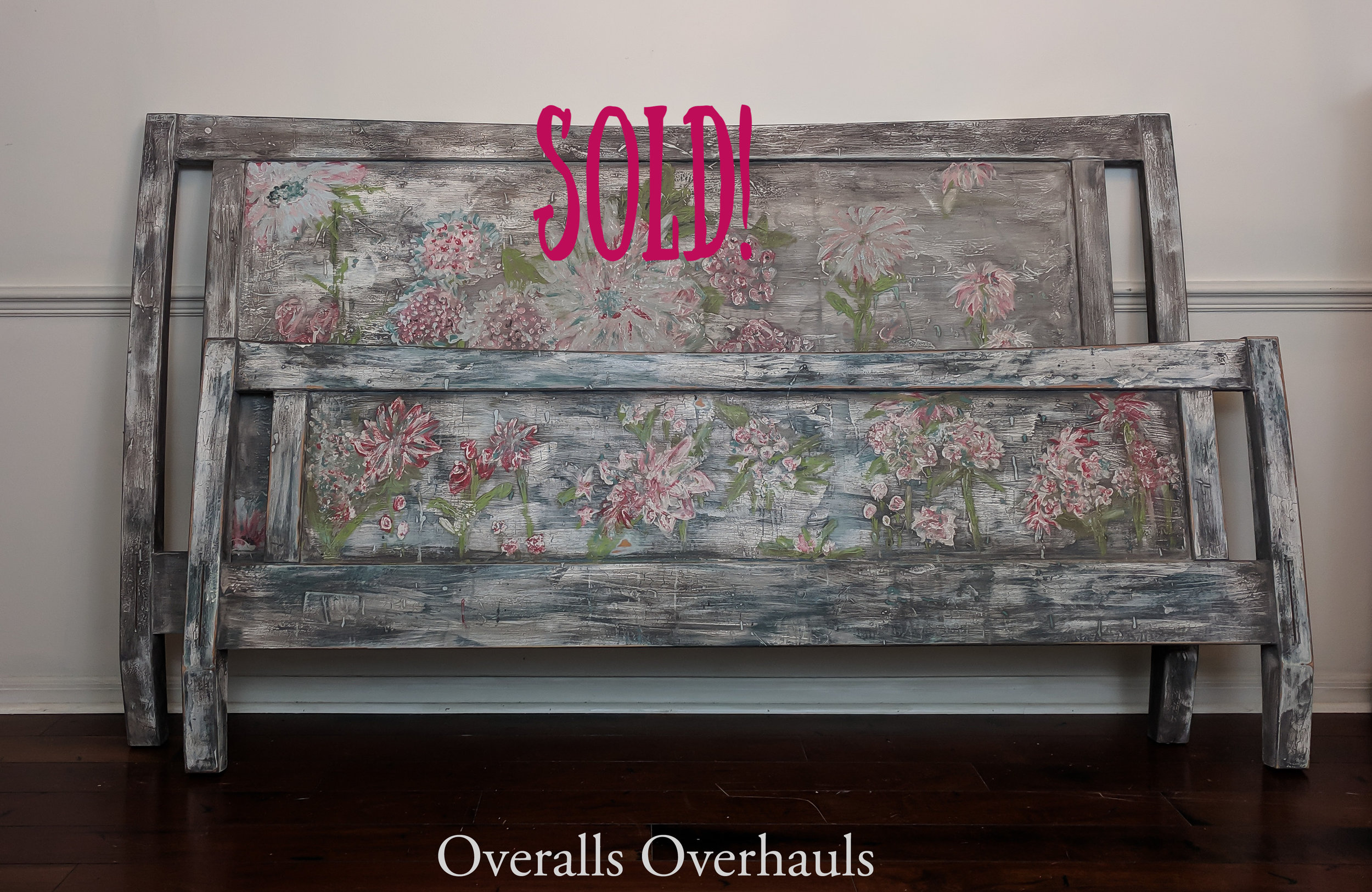 Boho King Head and Footboard - this finish or one similar can be recreated for you.