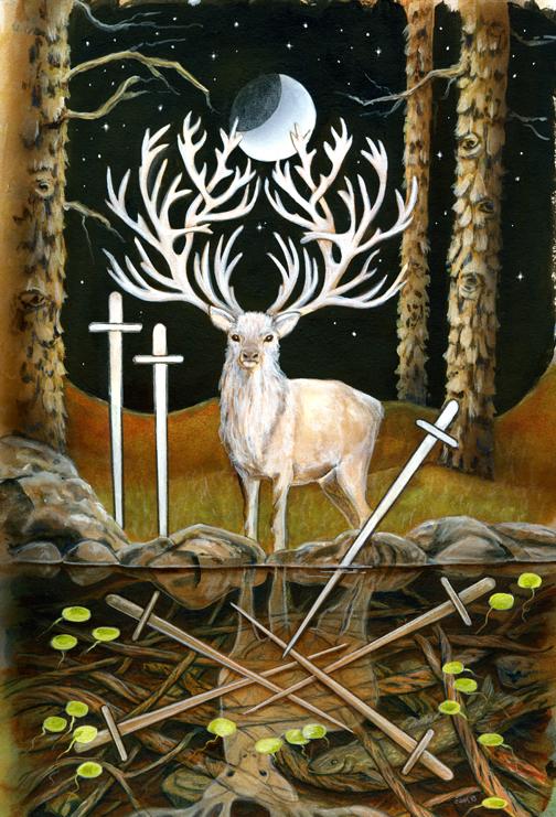 7 Swords, Star Tarot - Gifts for Mystics