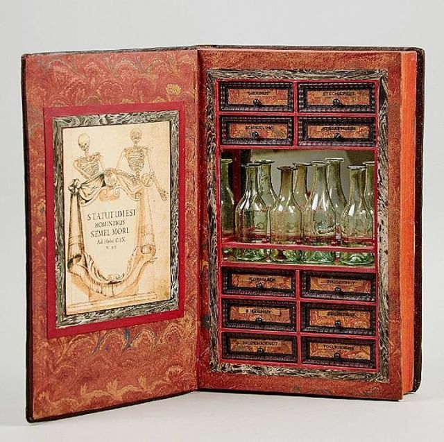 Wow check this gorgeous rare find out. An apothecary's secret storage box, concealed in a 17th century folio. Only $11,000 US! But what find! On our Apothecary page at Gifts for Mystics. Link in bio.  #Apothecary #Antique #VintageFinds #19thcenturyantiques #MagicalTools ##WitchWares #witchesofinstagram #witchesofInsta #mysticism #healing #spirituality #pagan #witchlife