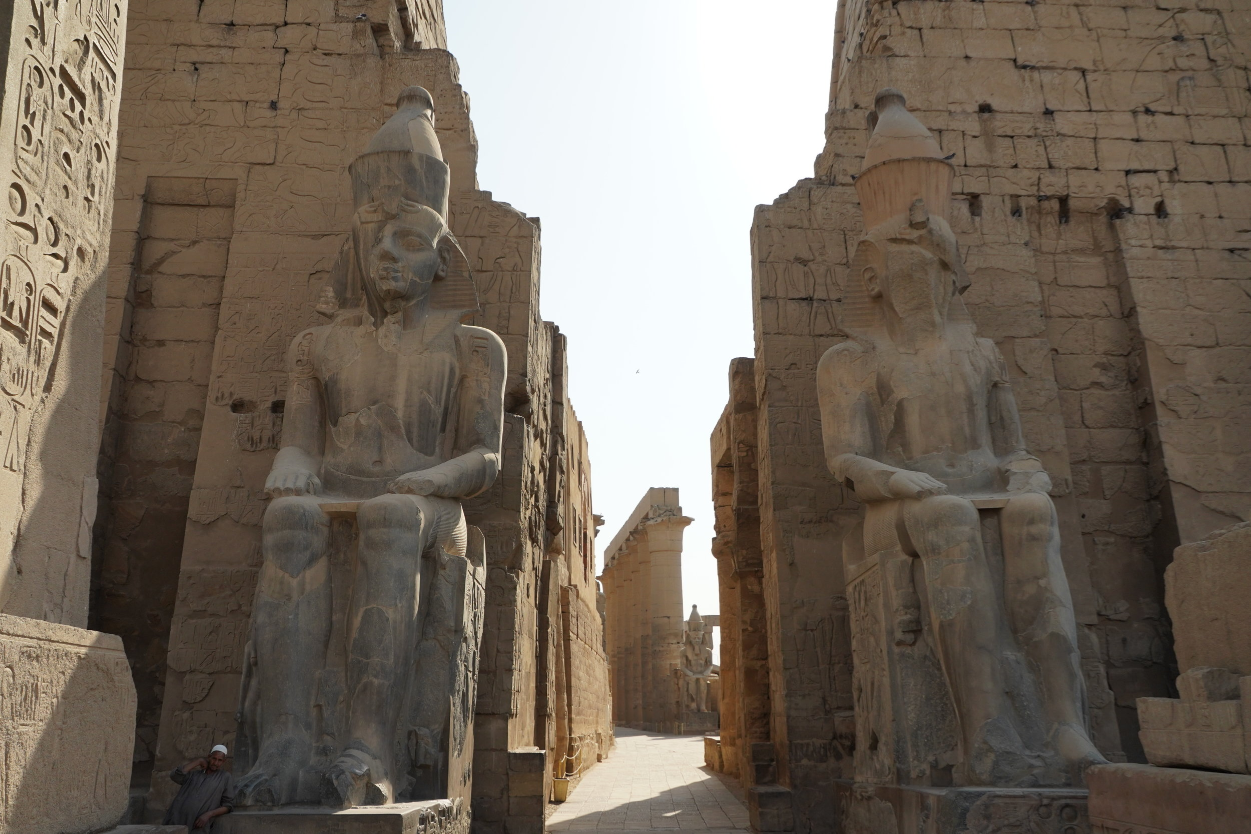 The Temple of Luxor without a tourist in sight.