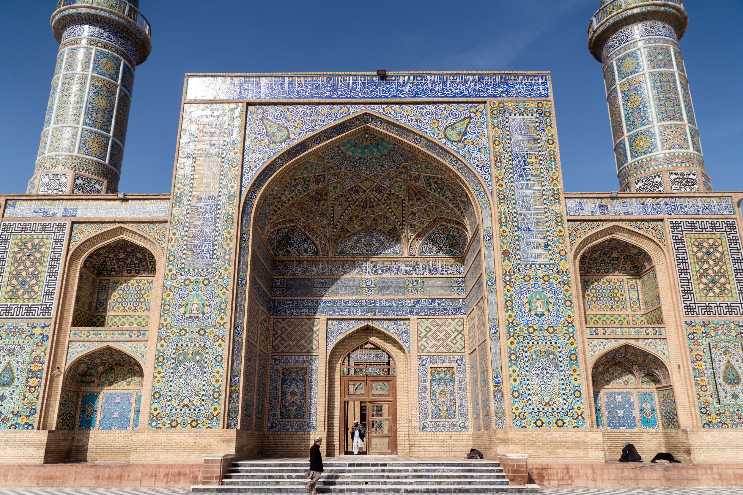 The entrance to Herat's Friday Mosque.