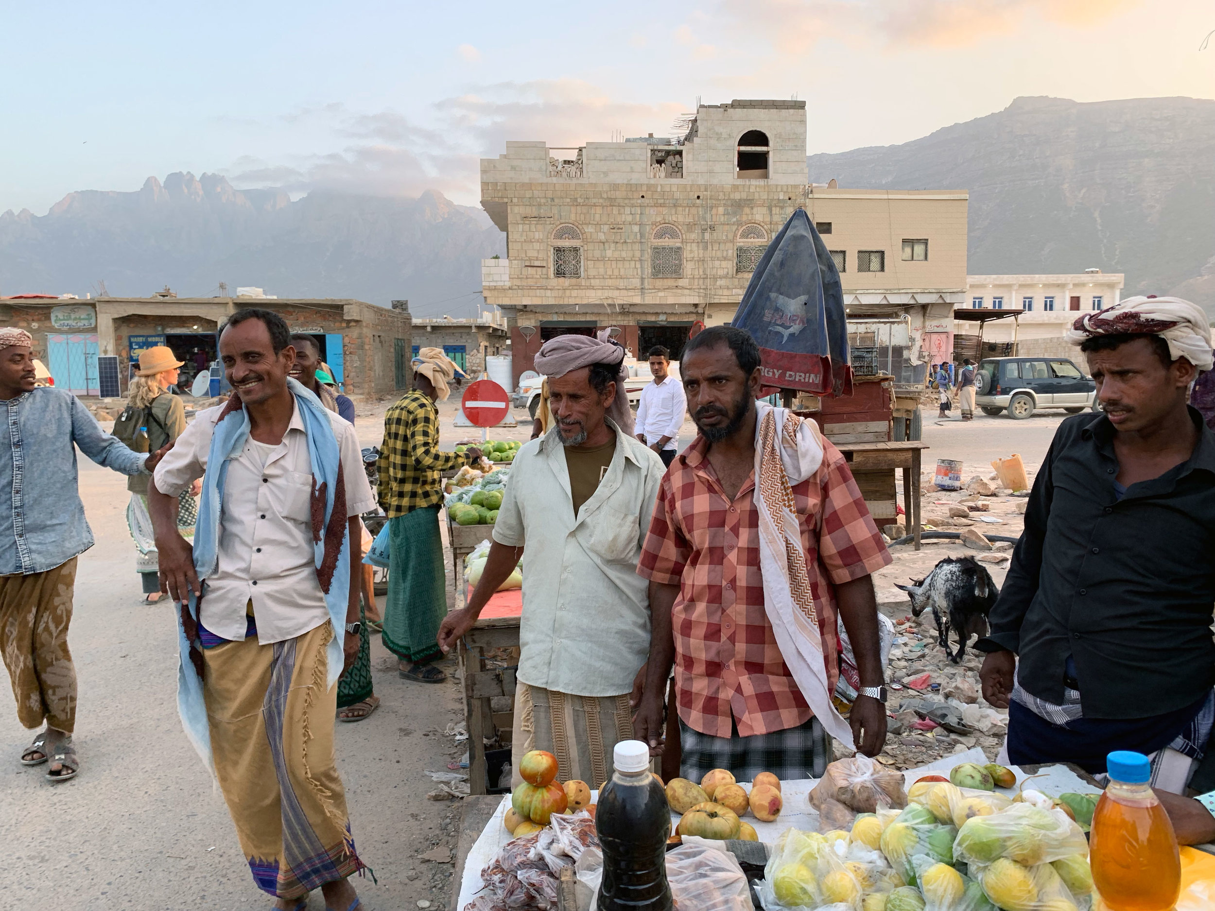 A street market selling fruits in Hadibo, Socotra.