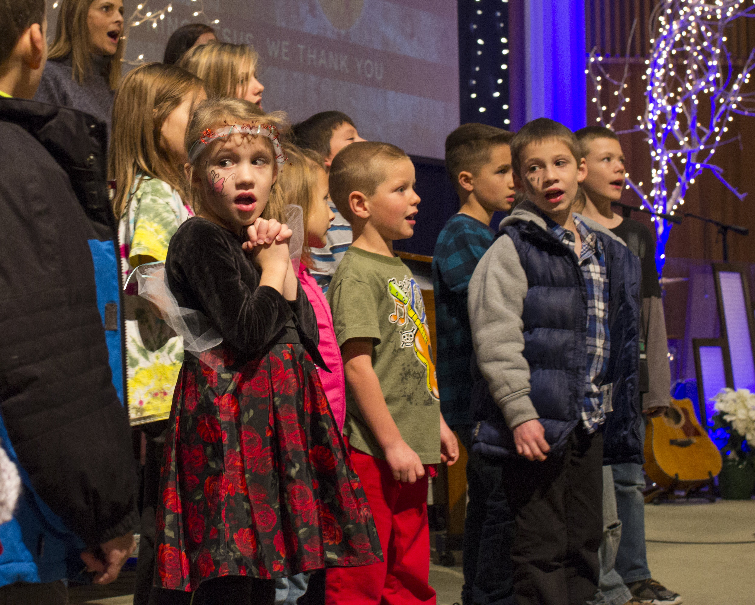 Children joining our Adult Choir at Christmas