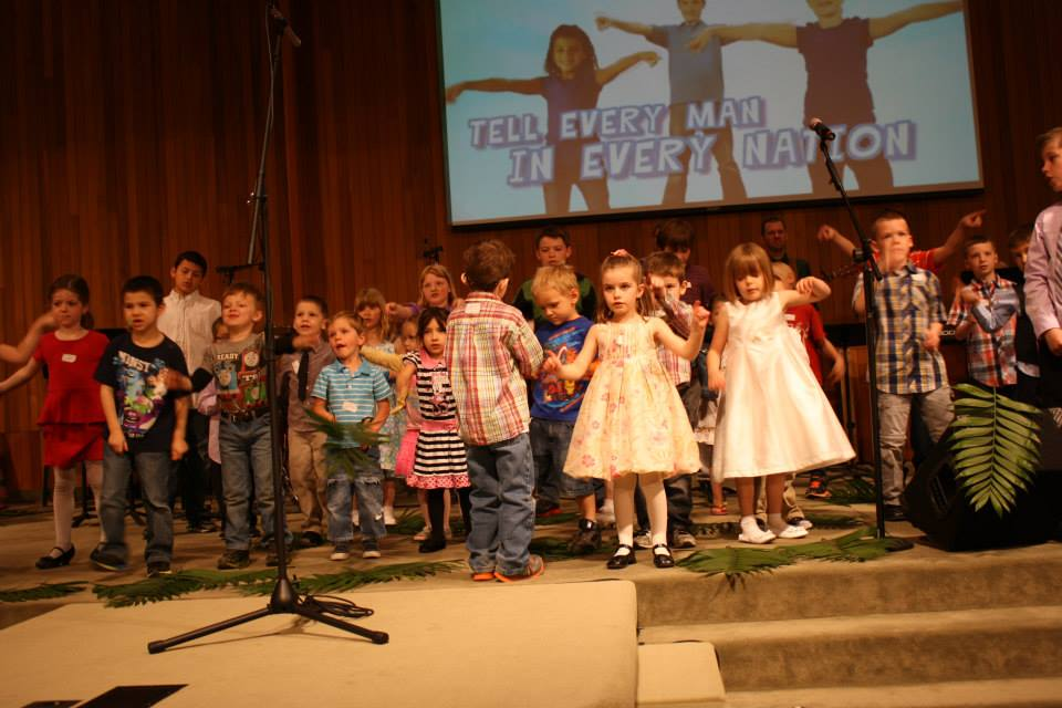 Our children ministering