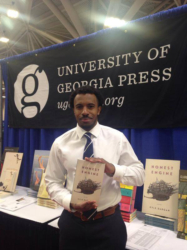 """Professor Dargan at a release and signing for his last book, """"Honest Engine"""""""