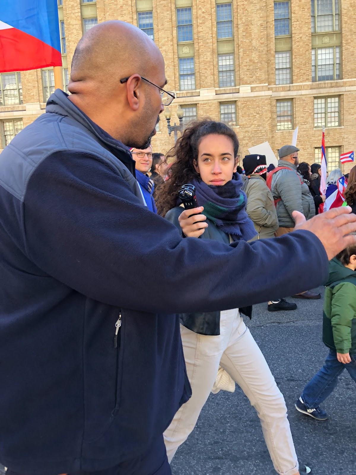Photo: Carolyn Mejia (Rep. Emilio Vasquez on left)