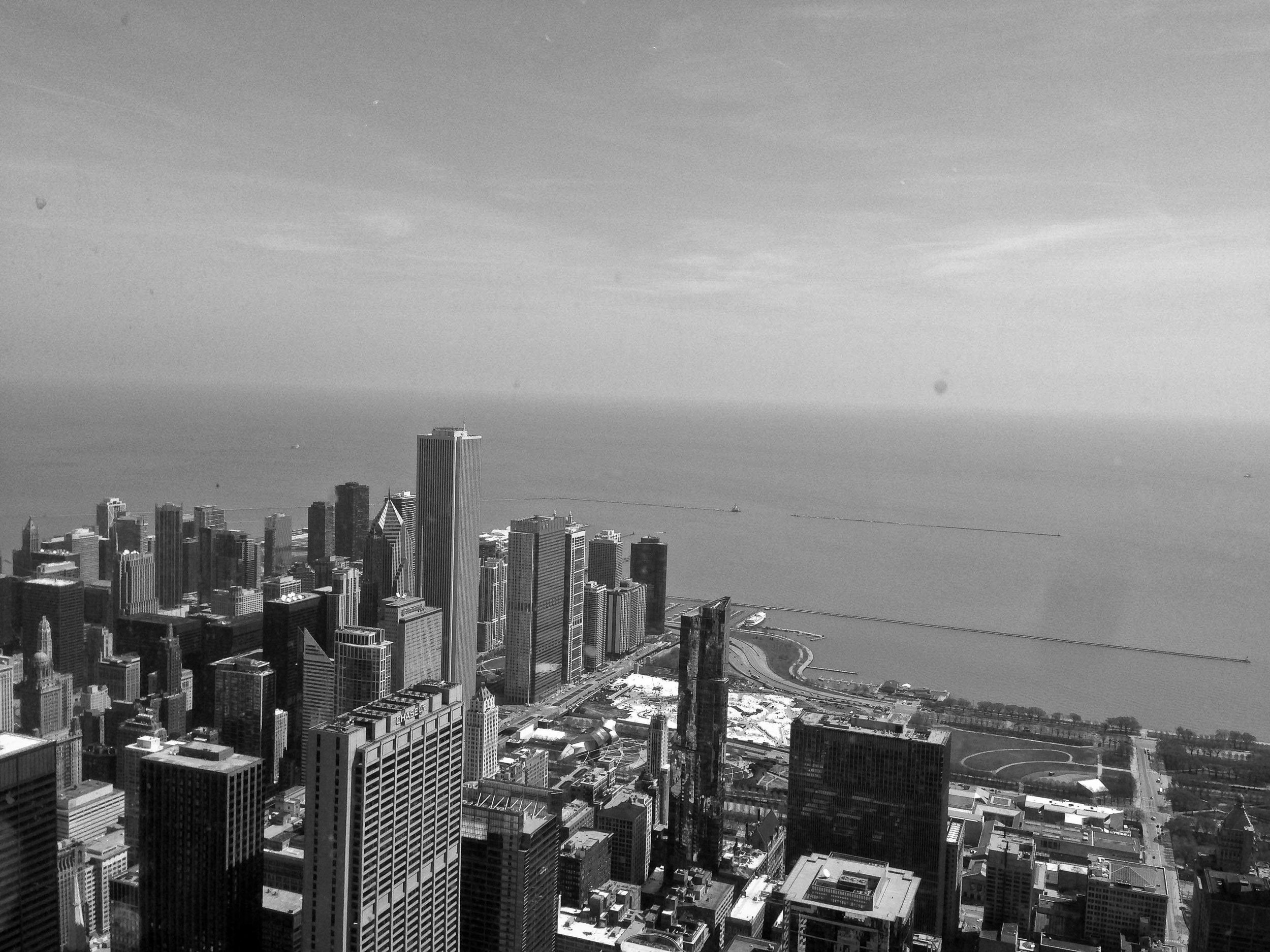 Chicago from the Willis Tower (formerly called the Sears Tower).