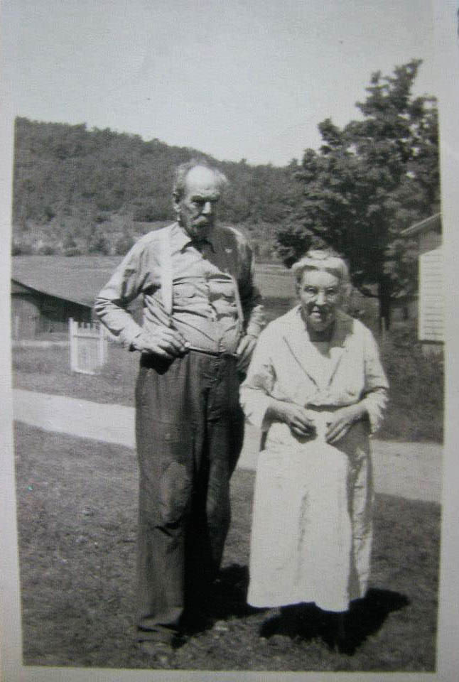 Mary's grandfather, J.K. Johnston, and her grandmother, Alice (Hinds) Johnston.