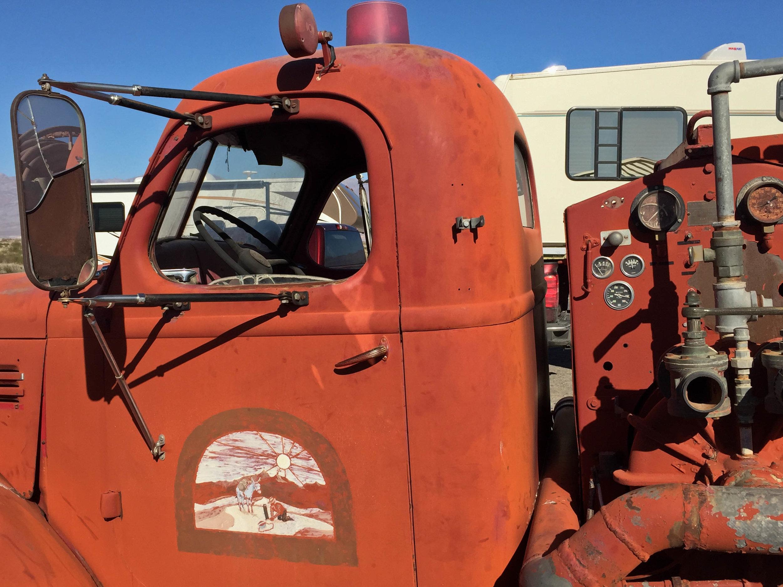 Old firetruck at Furnace Creek.